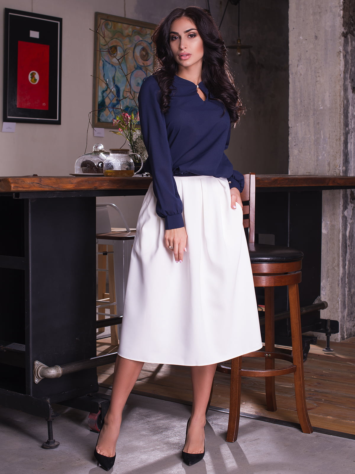 Блуза темно-синя   3064313