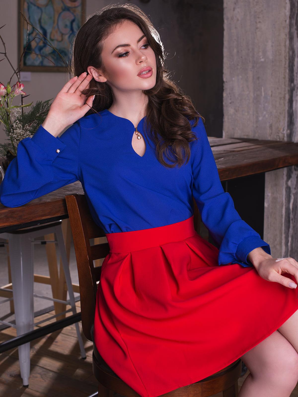 Блуза кольору електрик | 3064315