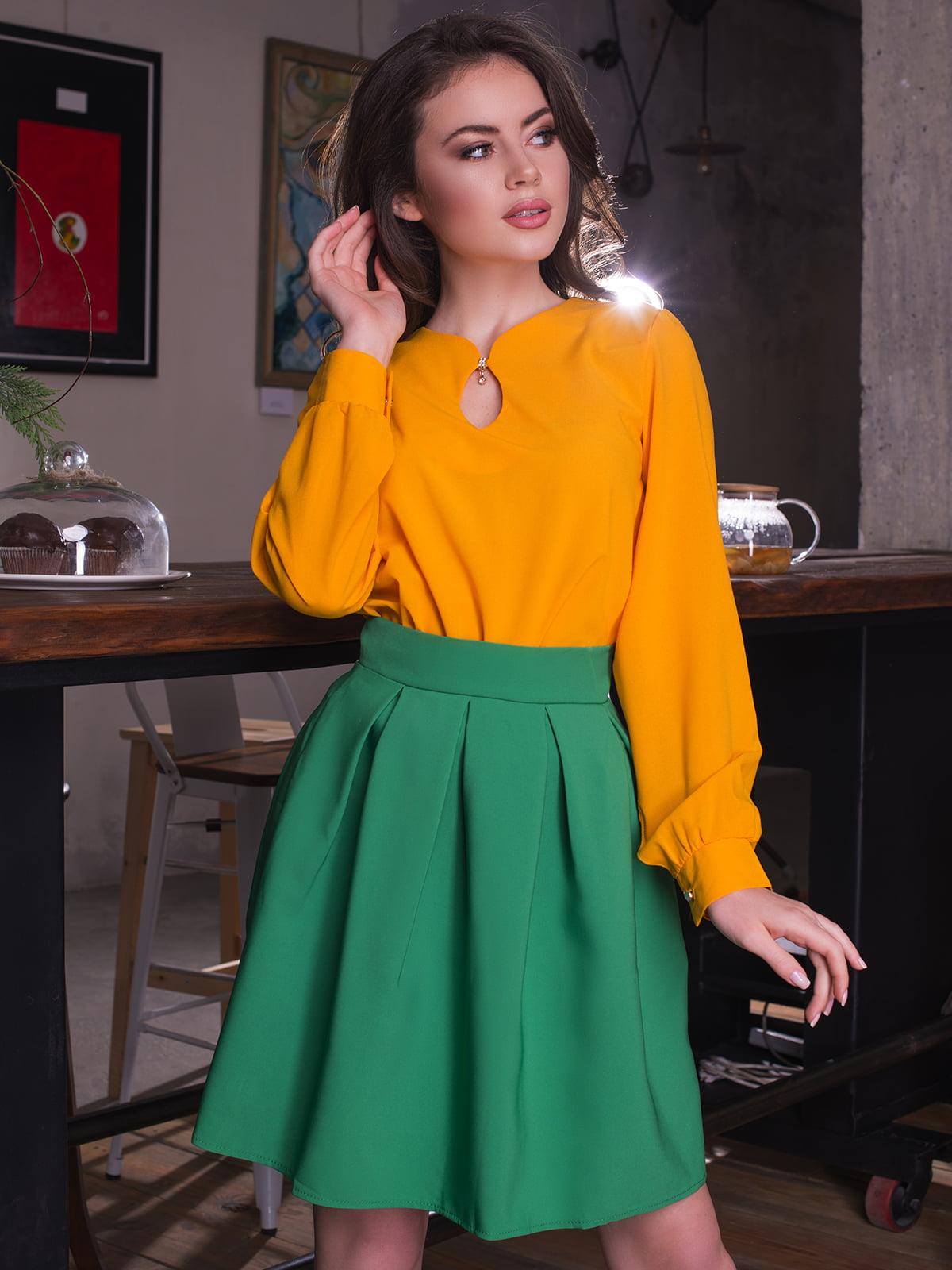 Блуза гірчичного кольору   3064320