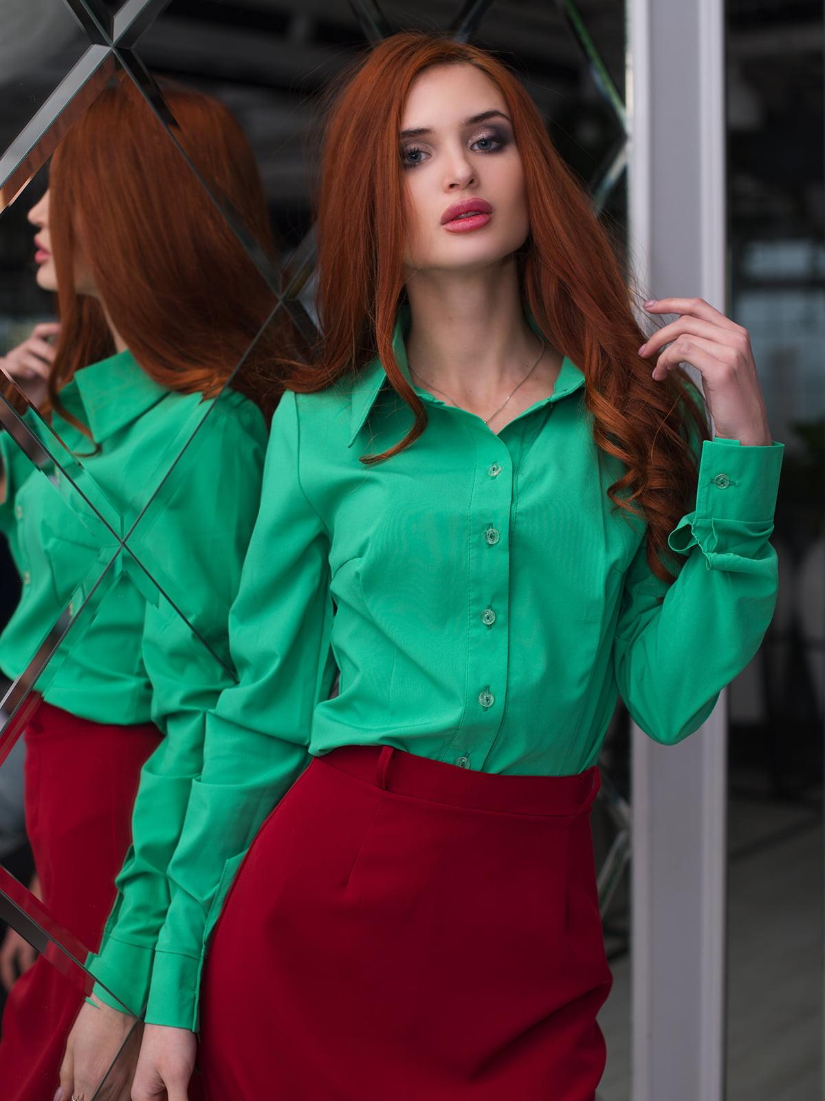 Рубашка зеленая   3064336