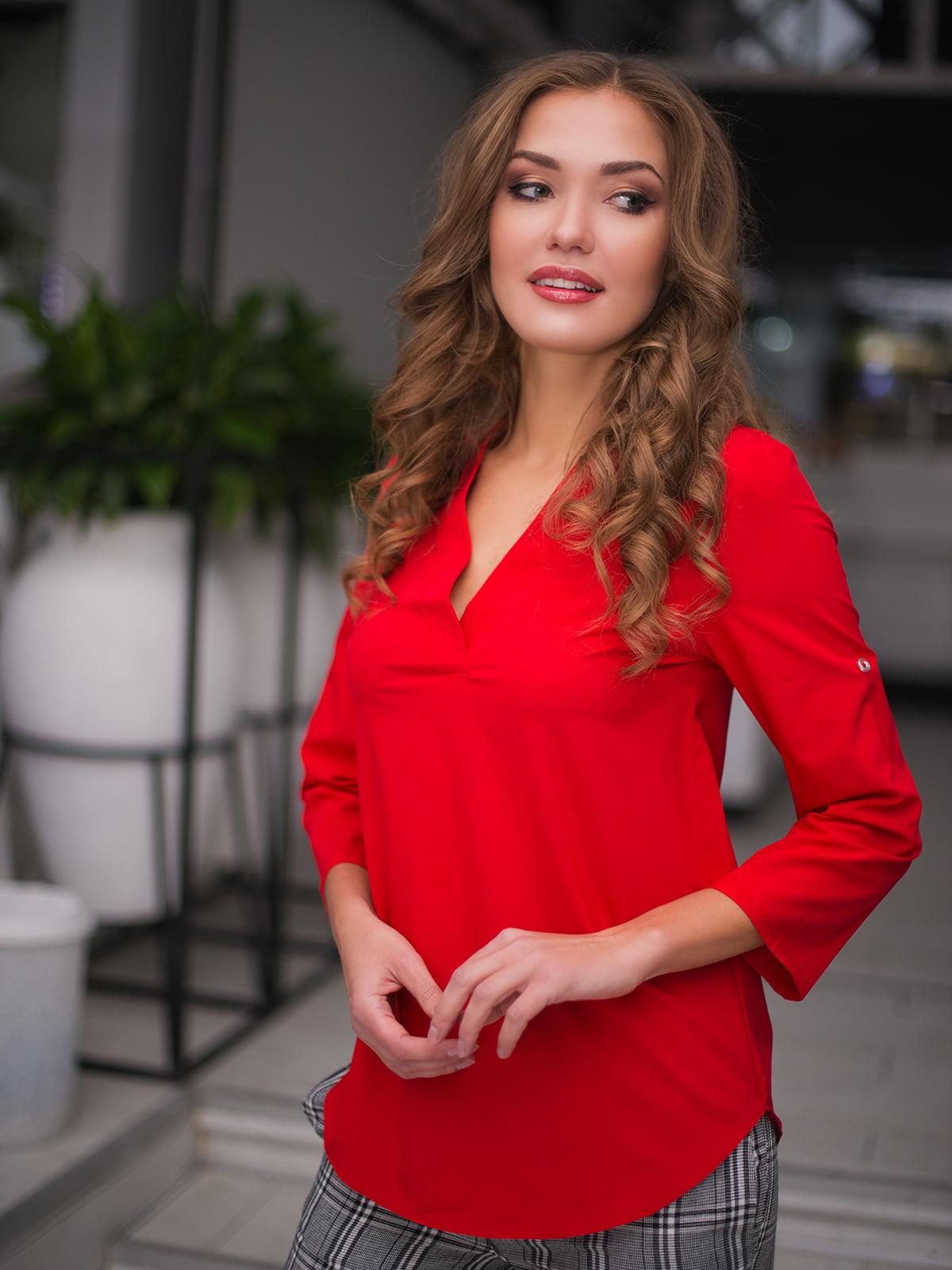 Блуза червона | 3171776