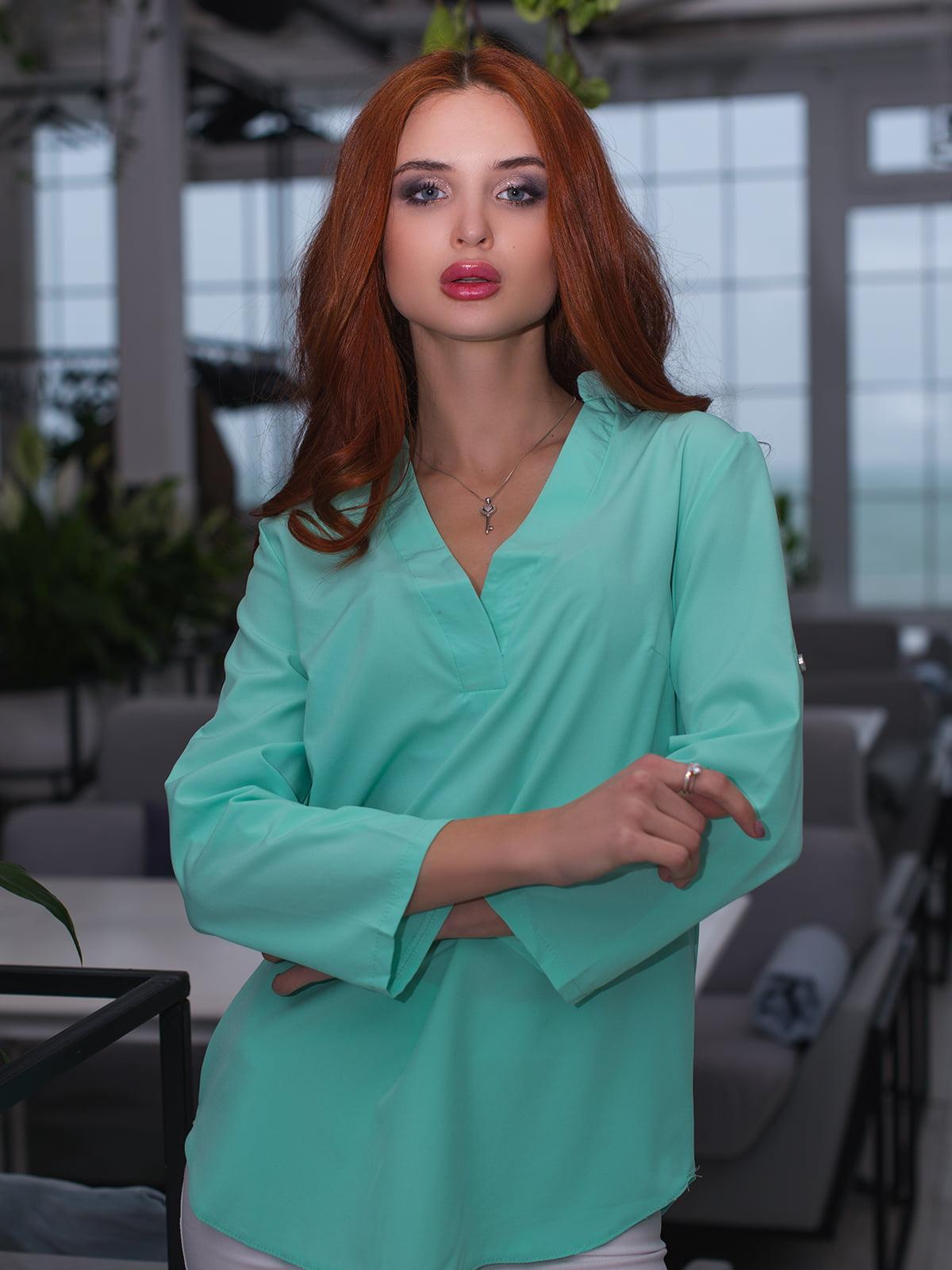 Блуза м'ятного кольору | 3171780