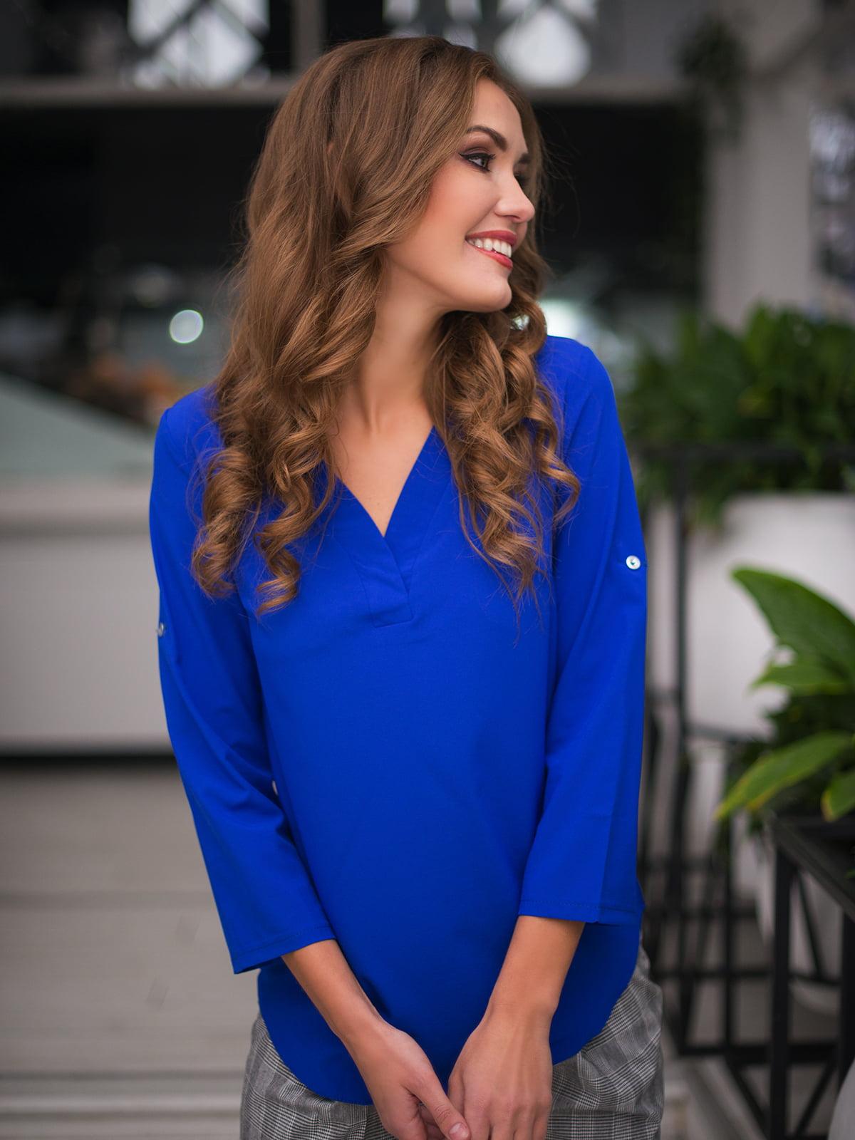 Блуза кольору електрик | 3171781