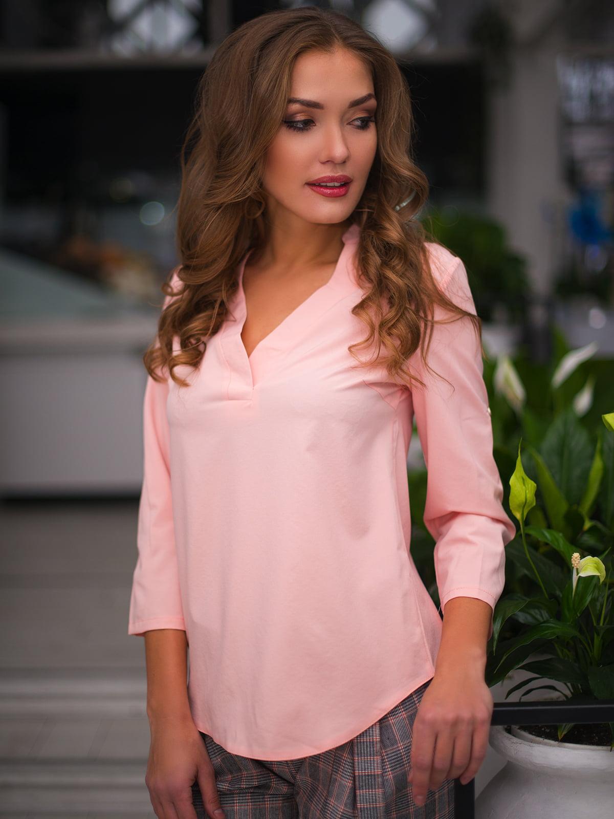 Блуза кольору пудри | 3171782
