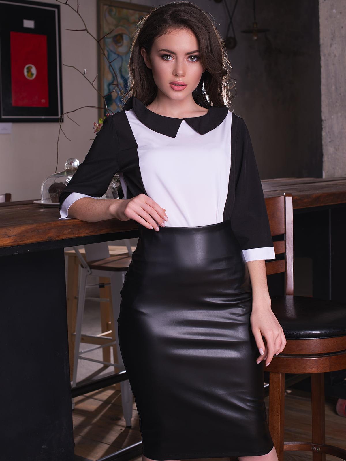Блуза двоколірна | 4613539