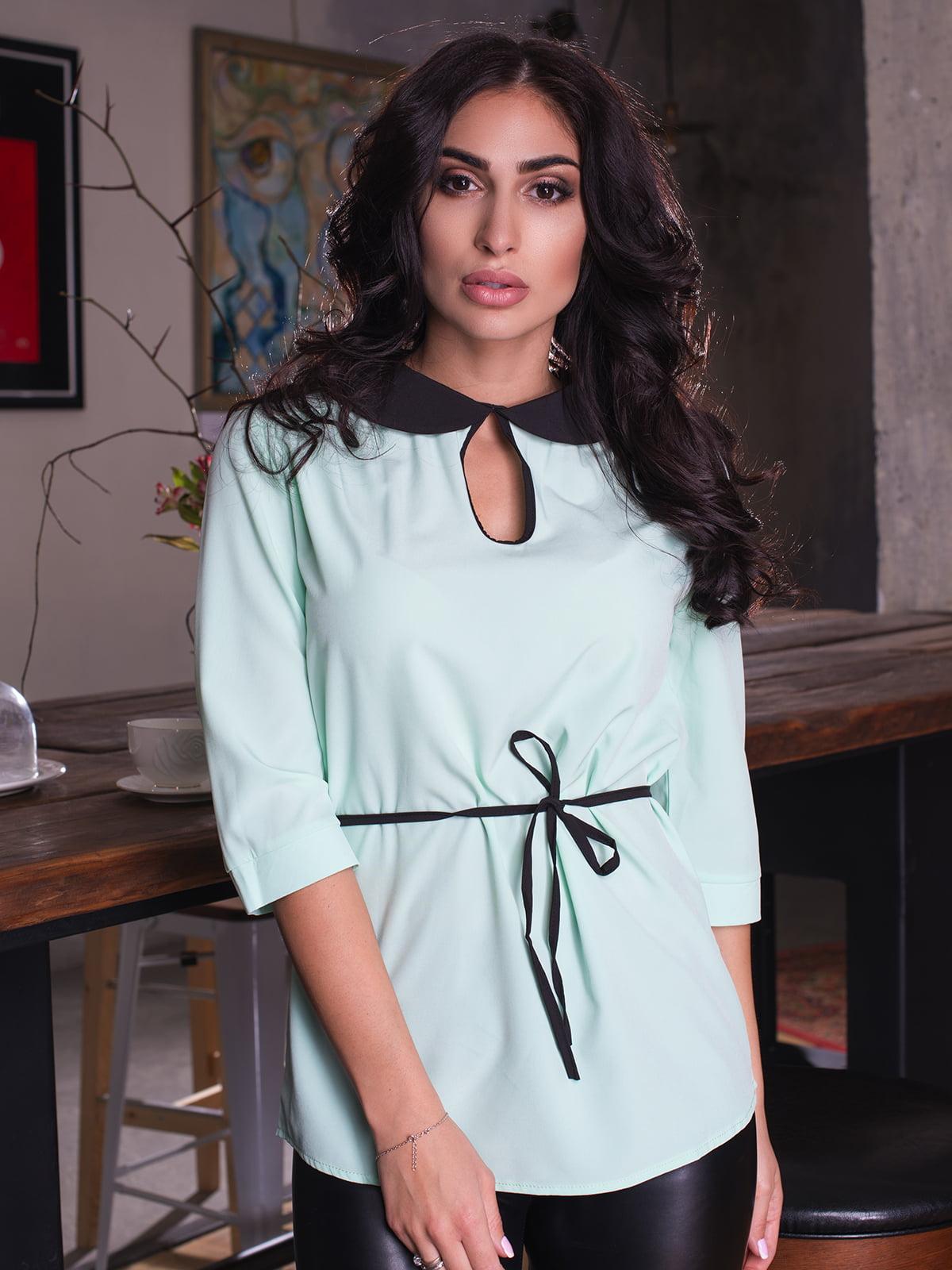 Блуза м'ятного кольору   4613549