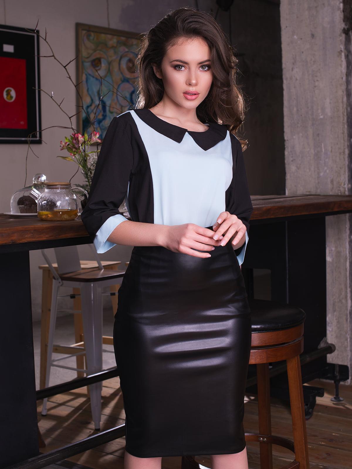 Блуза двоколірна | 4613553