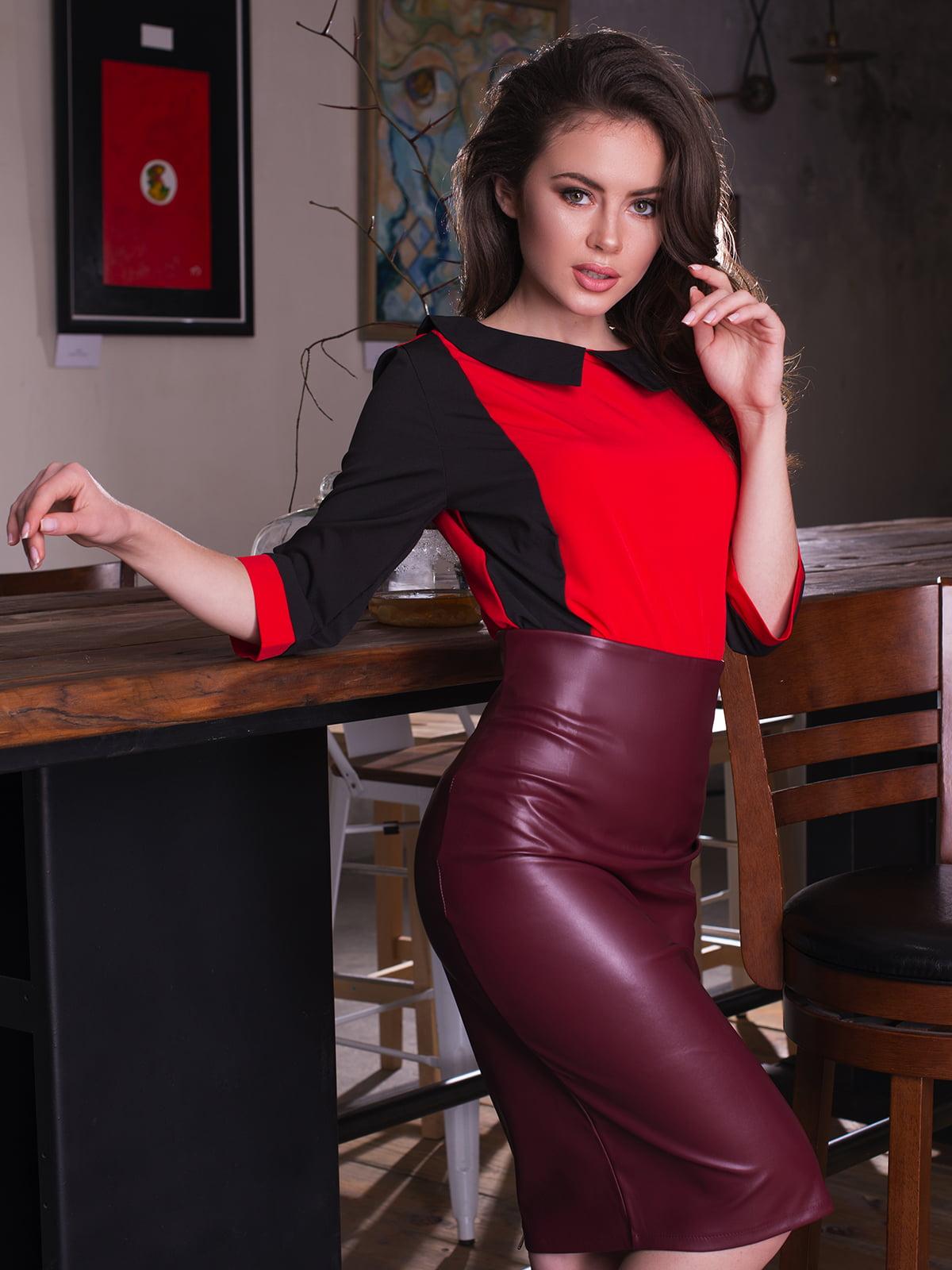 Блуза двоколірна | 4613554