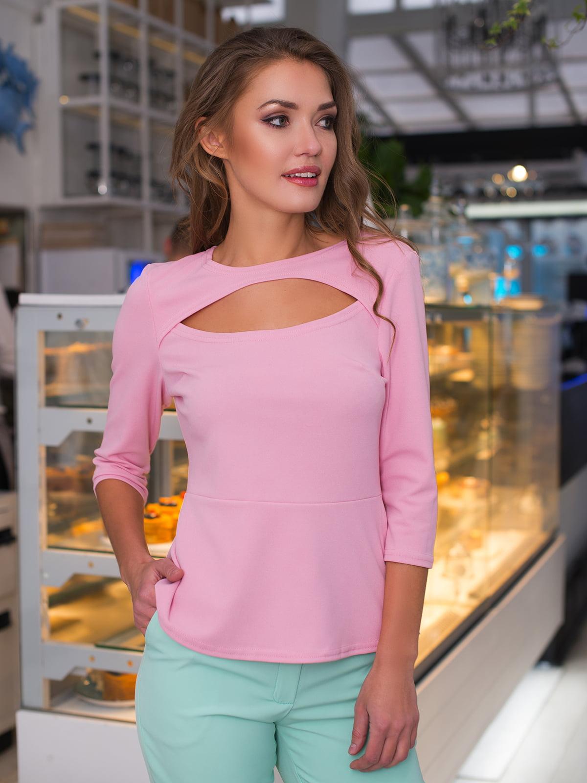 Блуза кольору пудри | 4613583