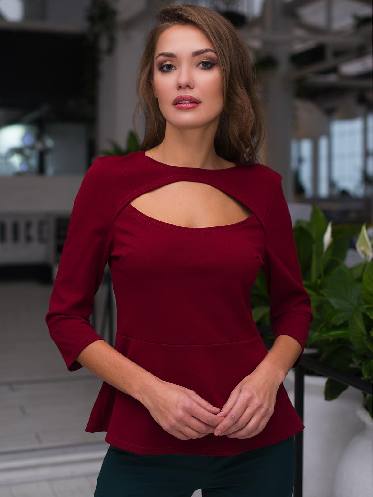 Блуза бордова   4613585