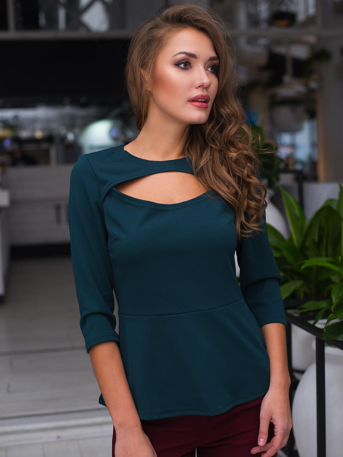 Блуза темно-зелена   4613586