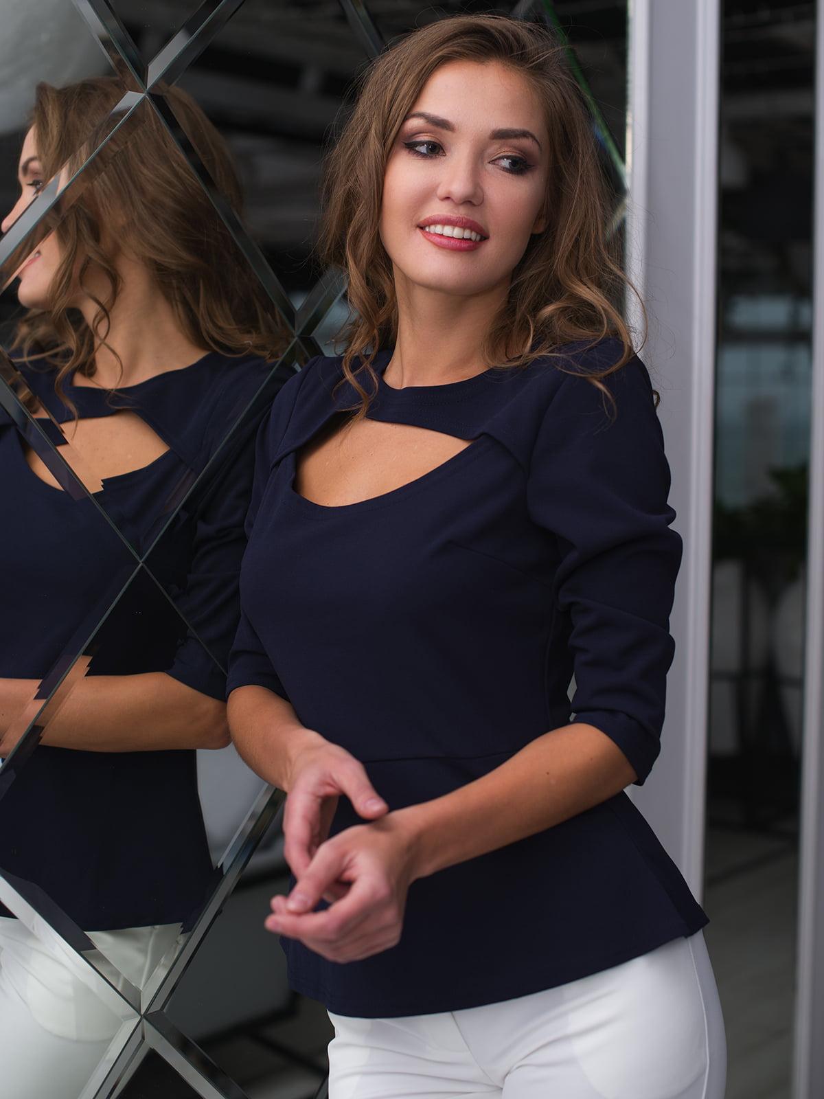 Блуза темно-синя | 4613601