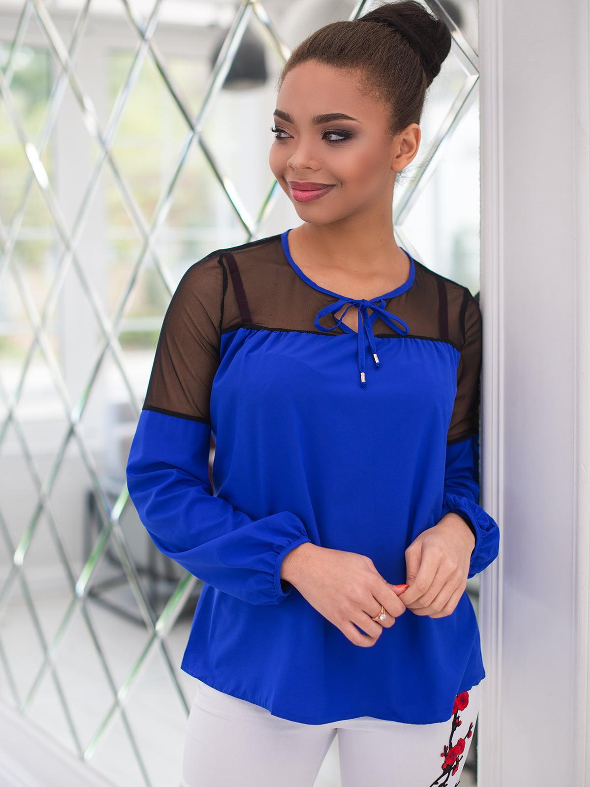 Блуза кольору електрик | 4613784