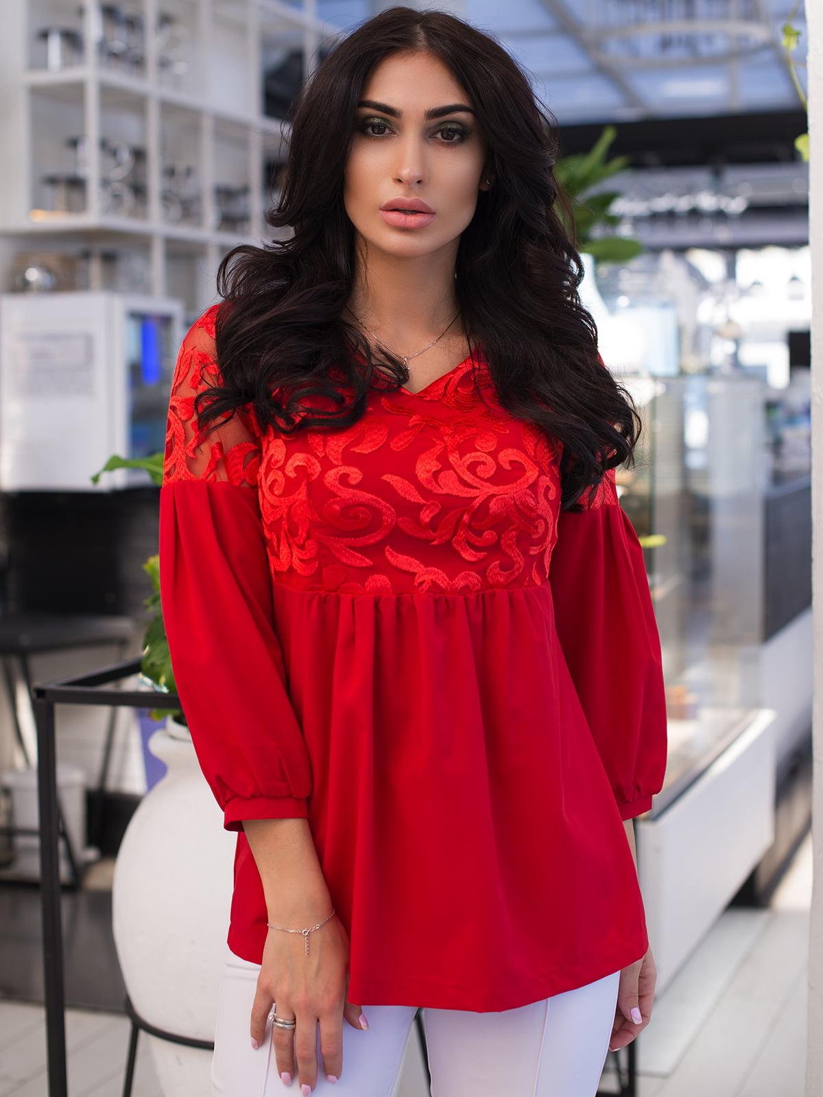 Блуза червона | 4950198