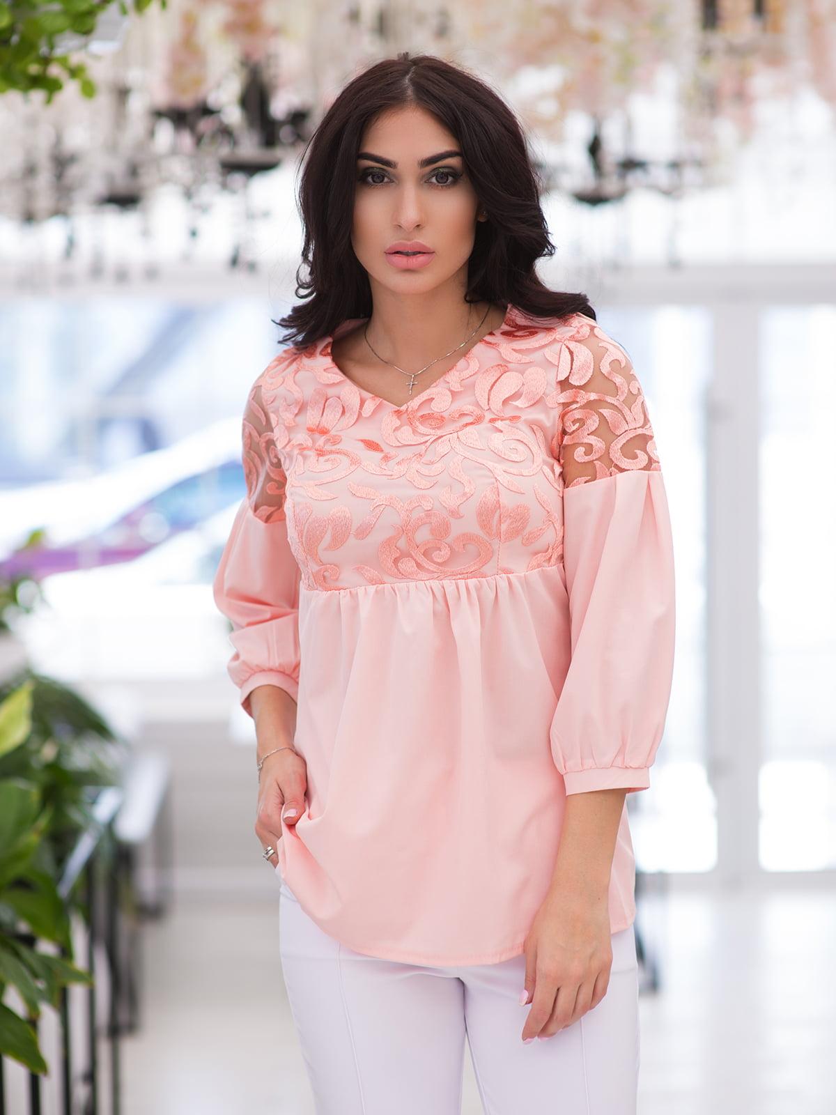 Блуза кольору пудри | 4950199