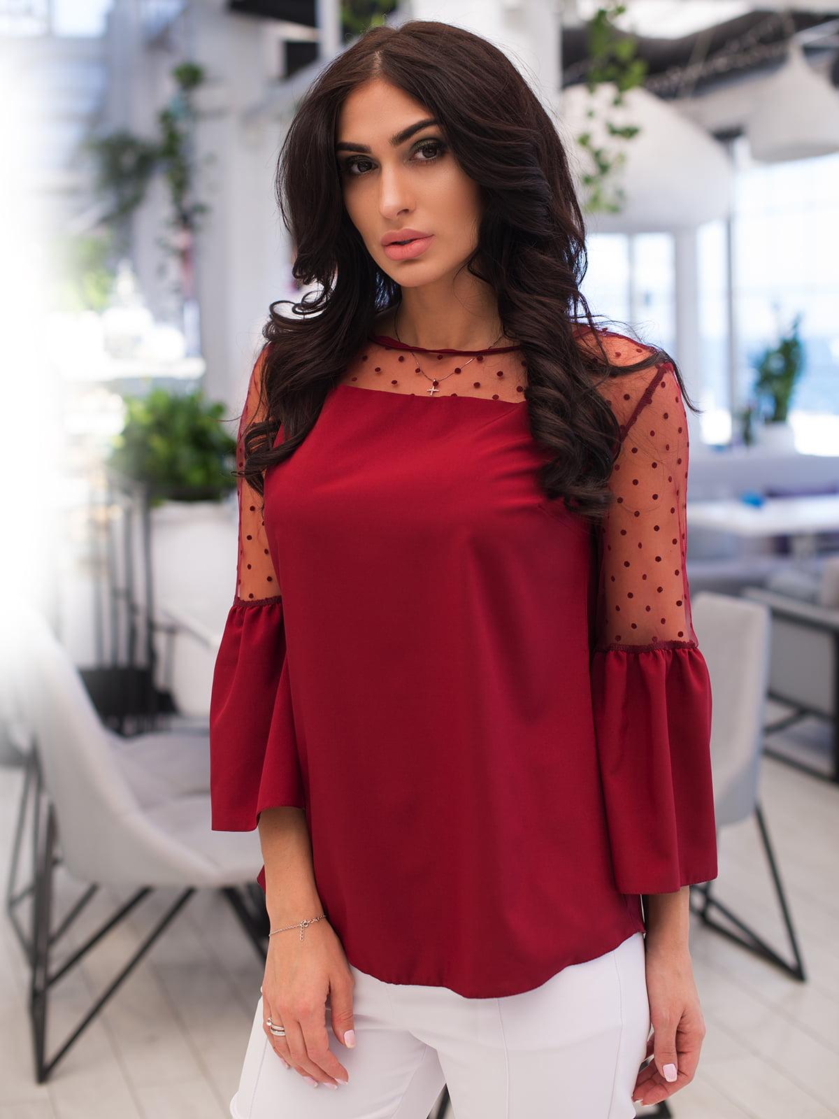 Блуза бордова | 4950243