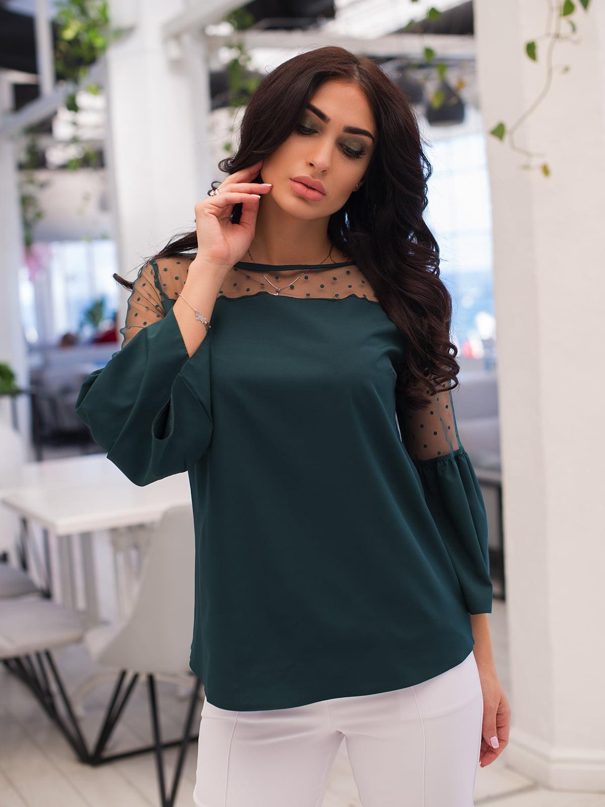 Блуза темно-зелена | 4950245
