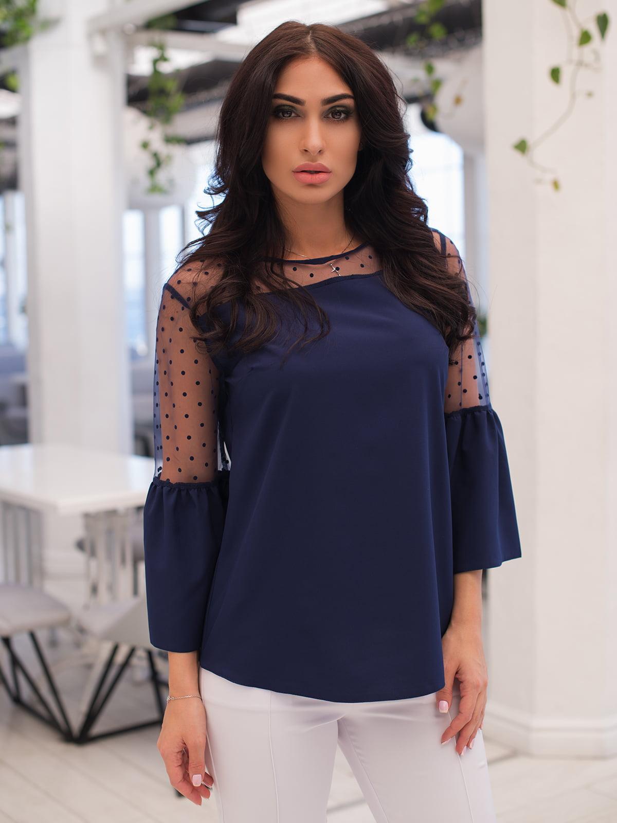 Блуза темно-синя | 4950246