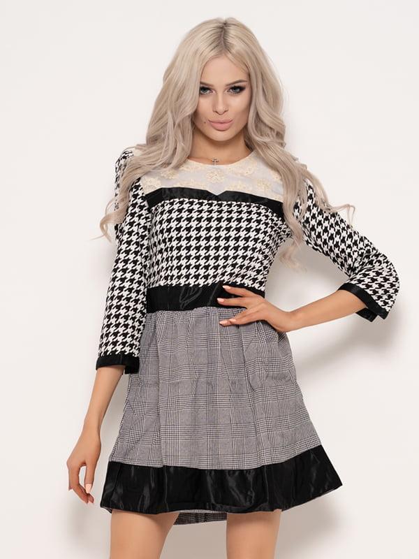 Платье комбинированной расцветки   4950847