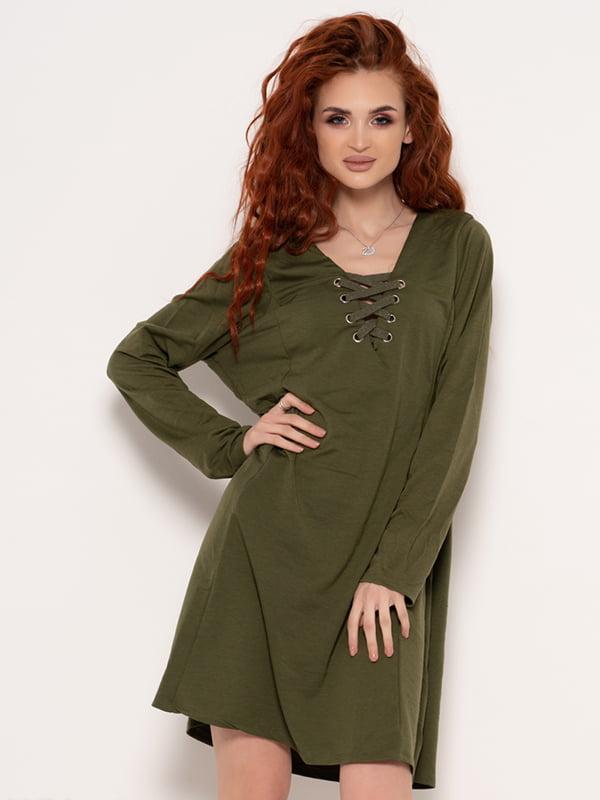 Платье цвета хаки | 4950851