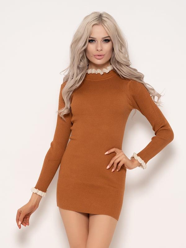 Платье горчичного цвета | 4950990