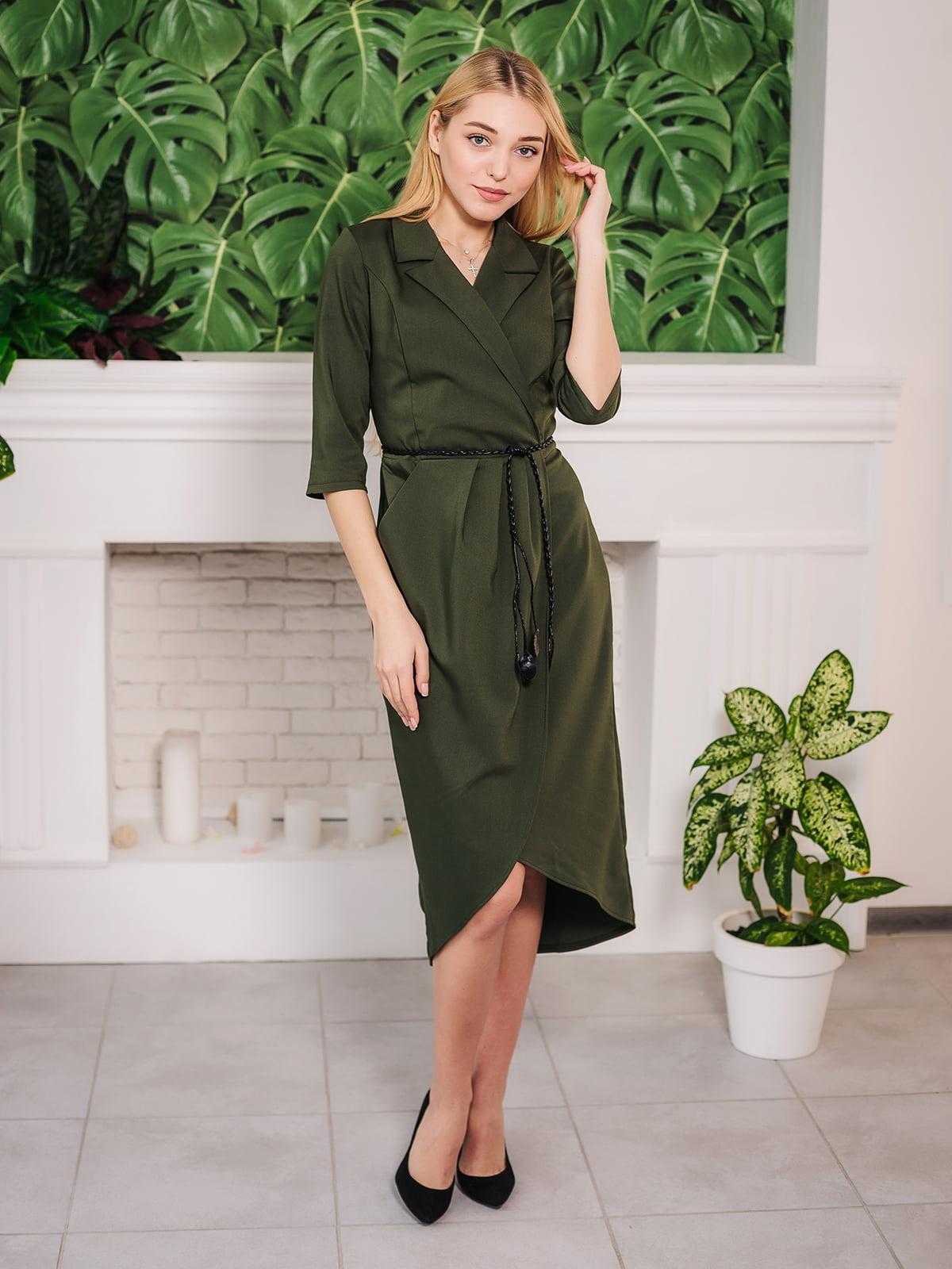 Платье оливкового цвета | 4952076