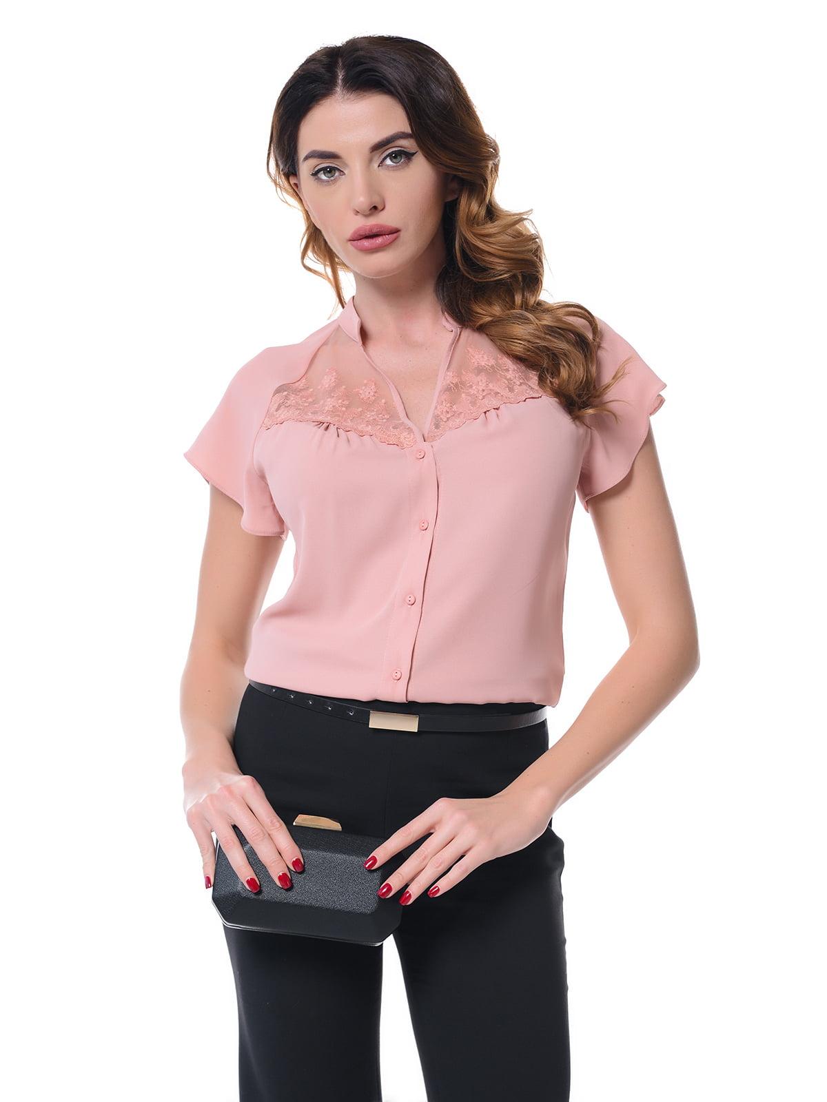 Блуза розовая | 4955837