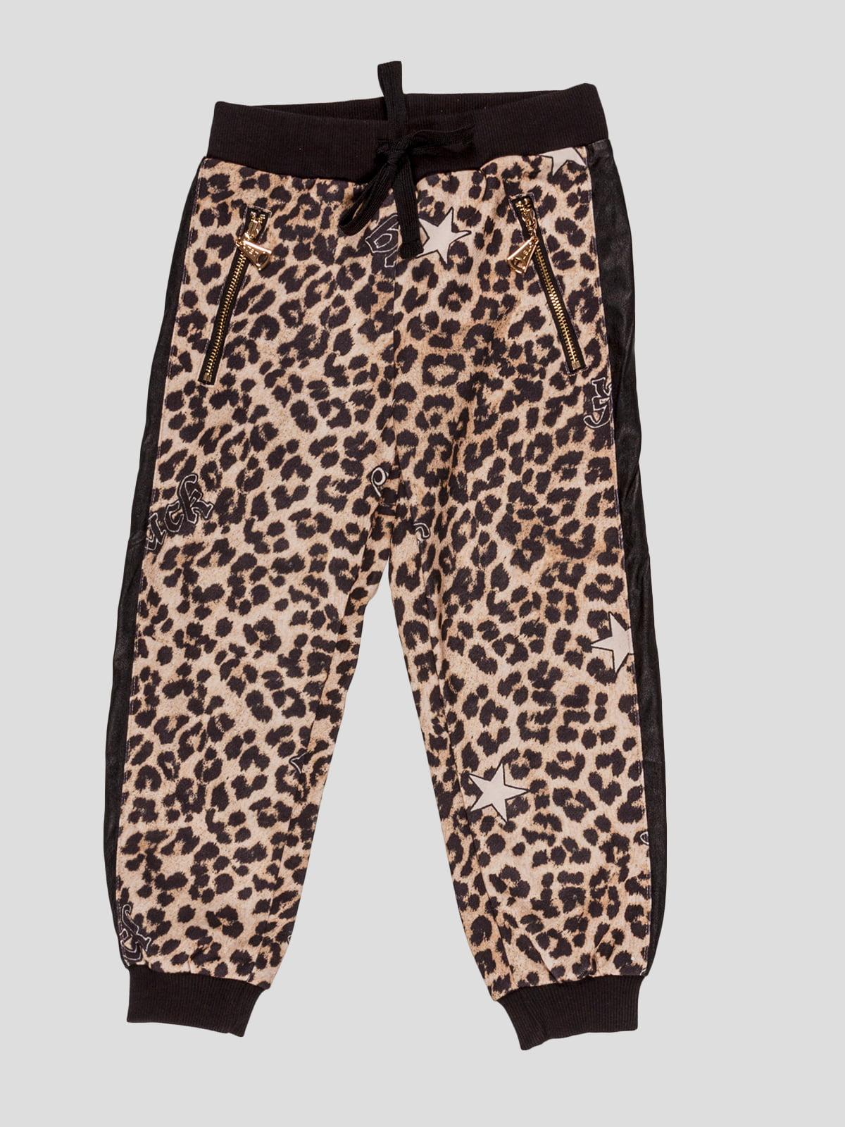 Штани в леопардовий принт | 4781407