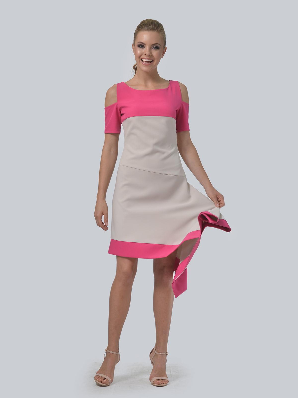 Платье двухцветное   4090706   фото 7