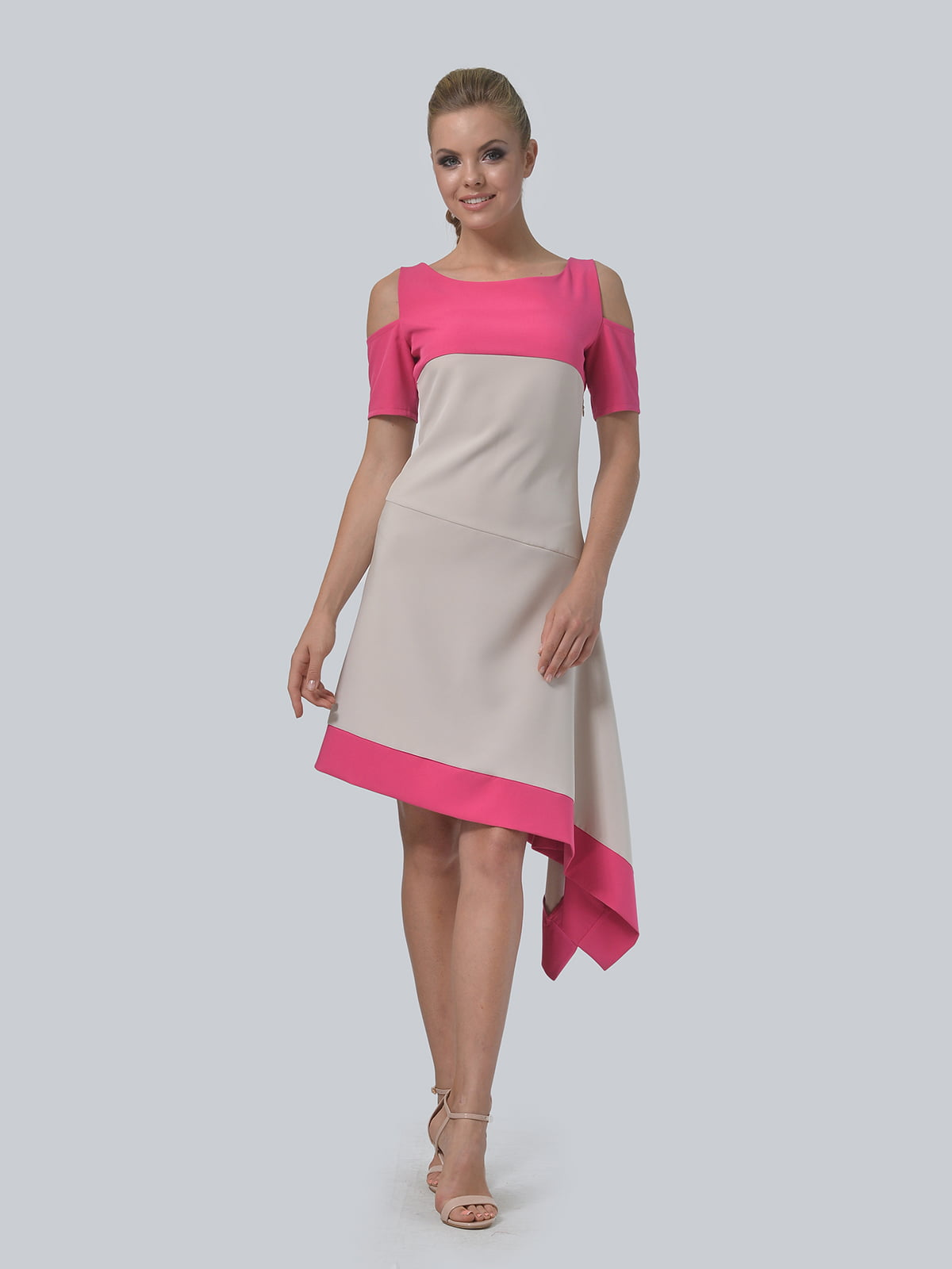 Платье двухцветное   4090706   фото 10
