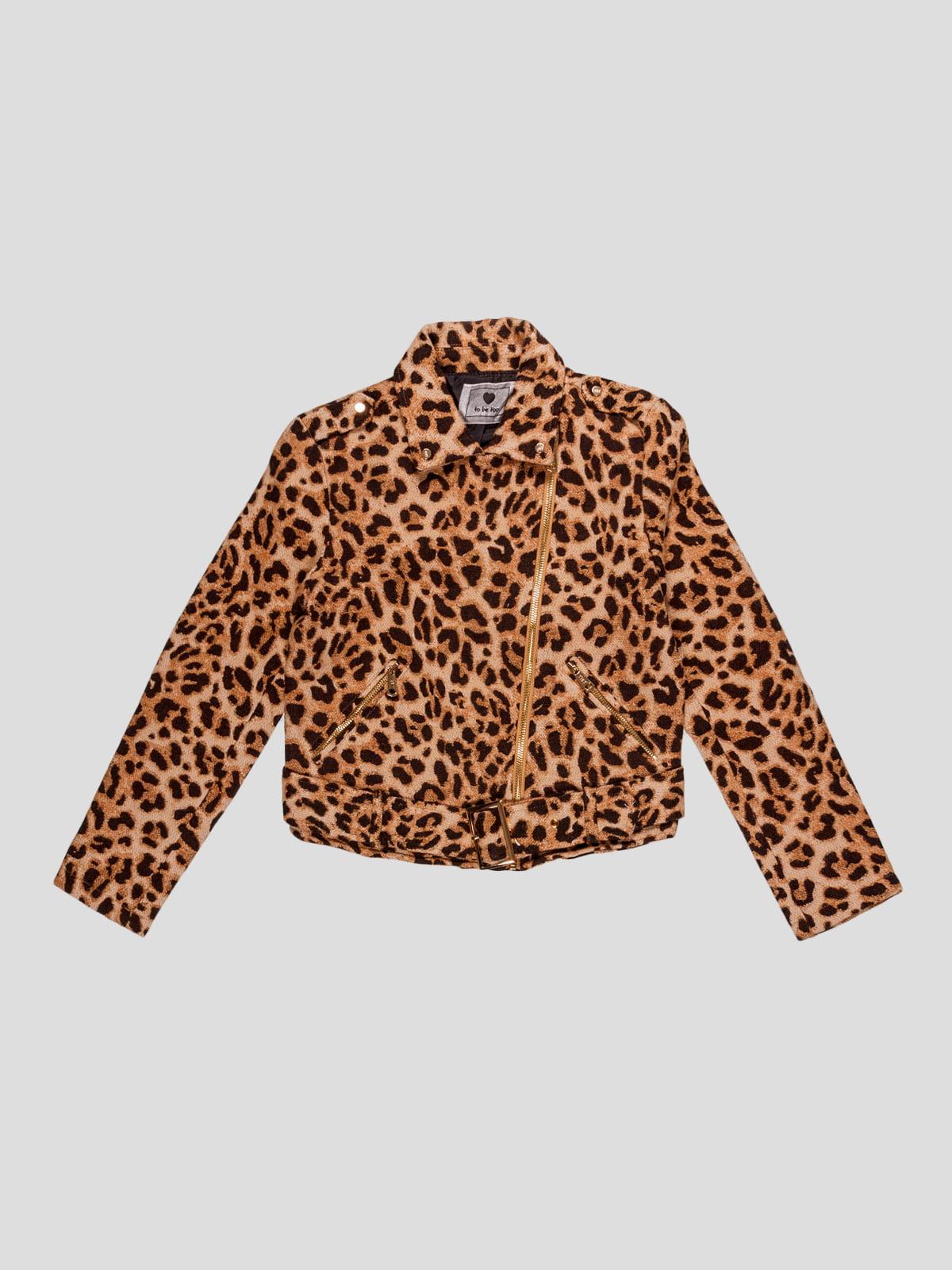 Куртка в леопардовий принт   4781293