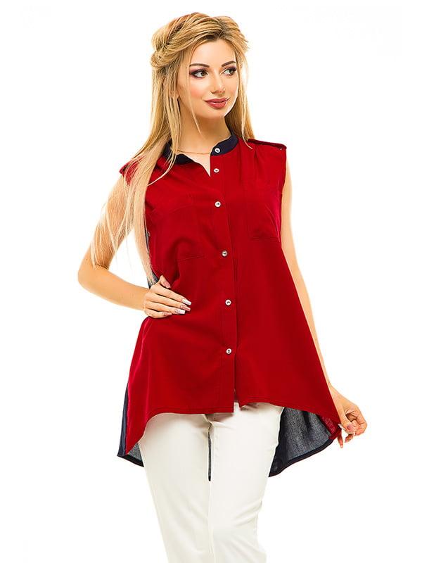 Блуза двоколірна | 4655548