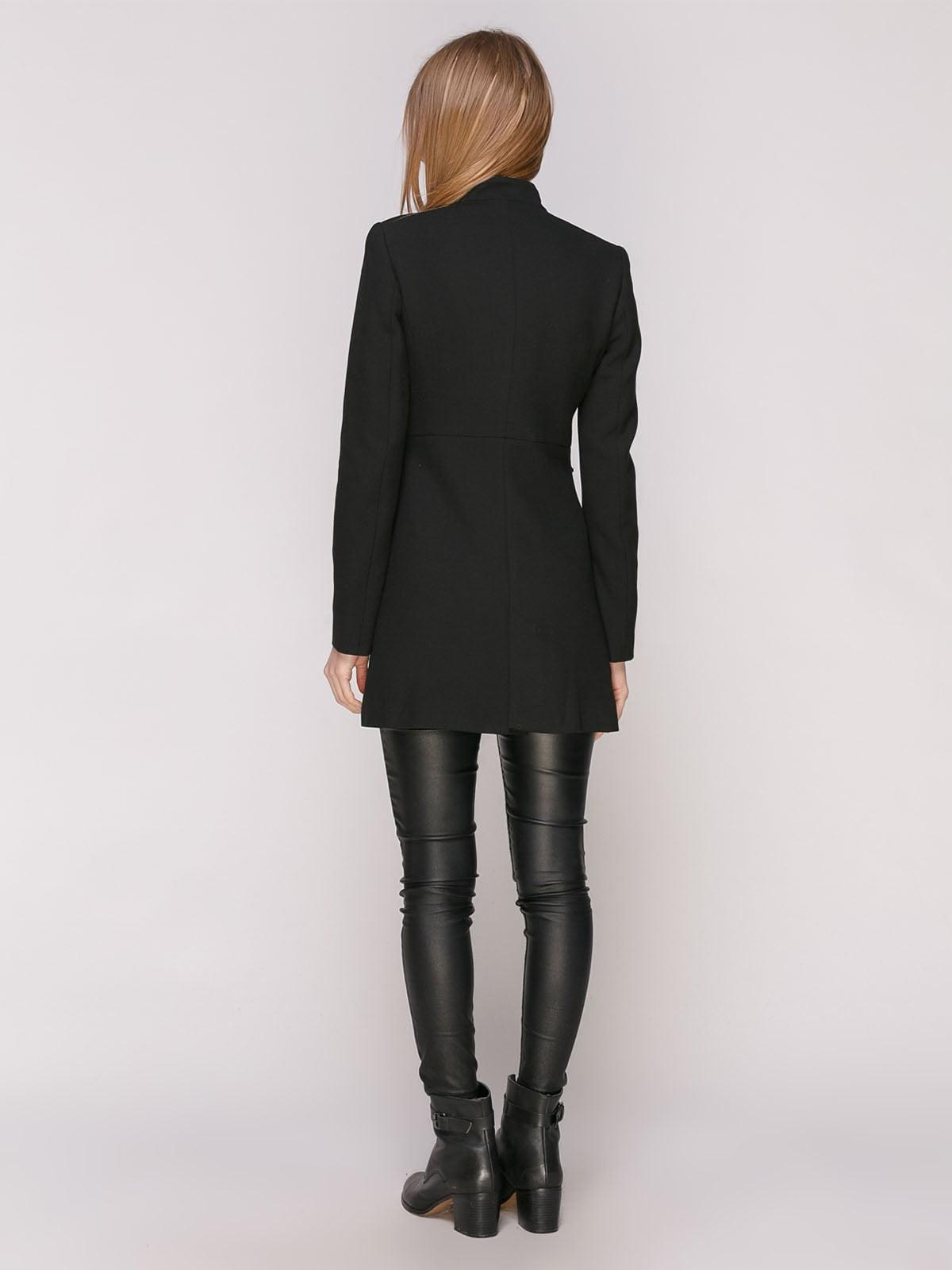 Пальто черное с декором   4877677   фото 3