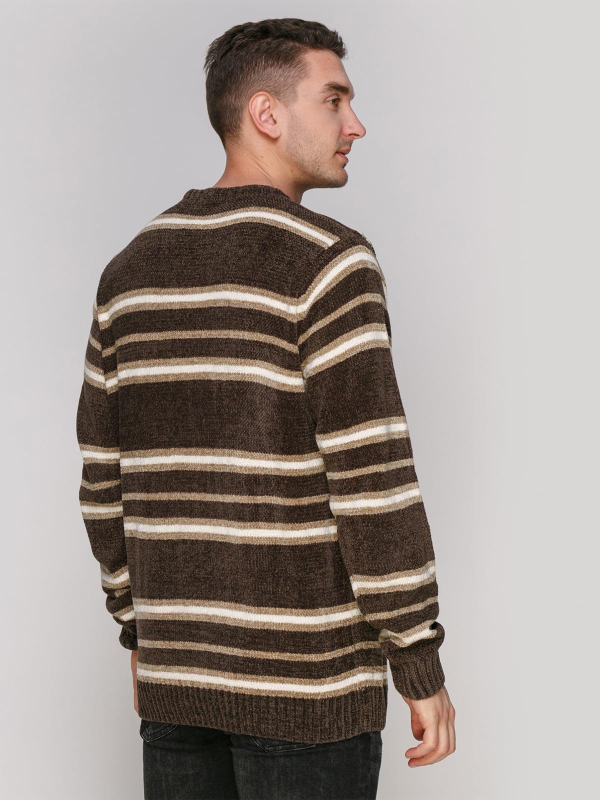 Джемпер серо-коричневого цвета в полоску | 4855005 | фото 2