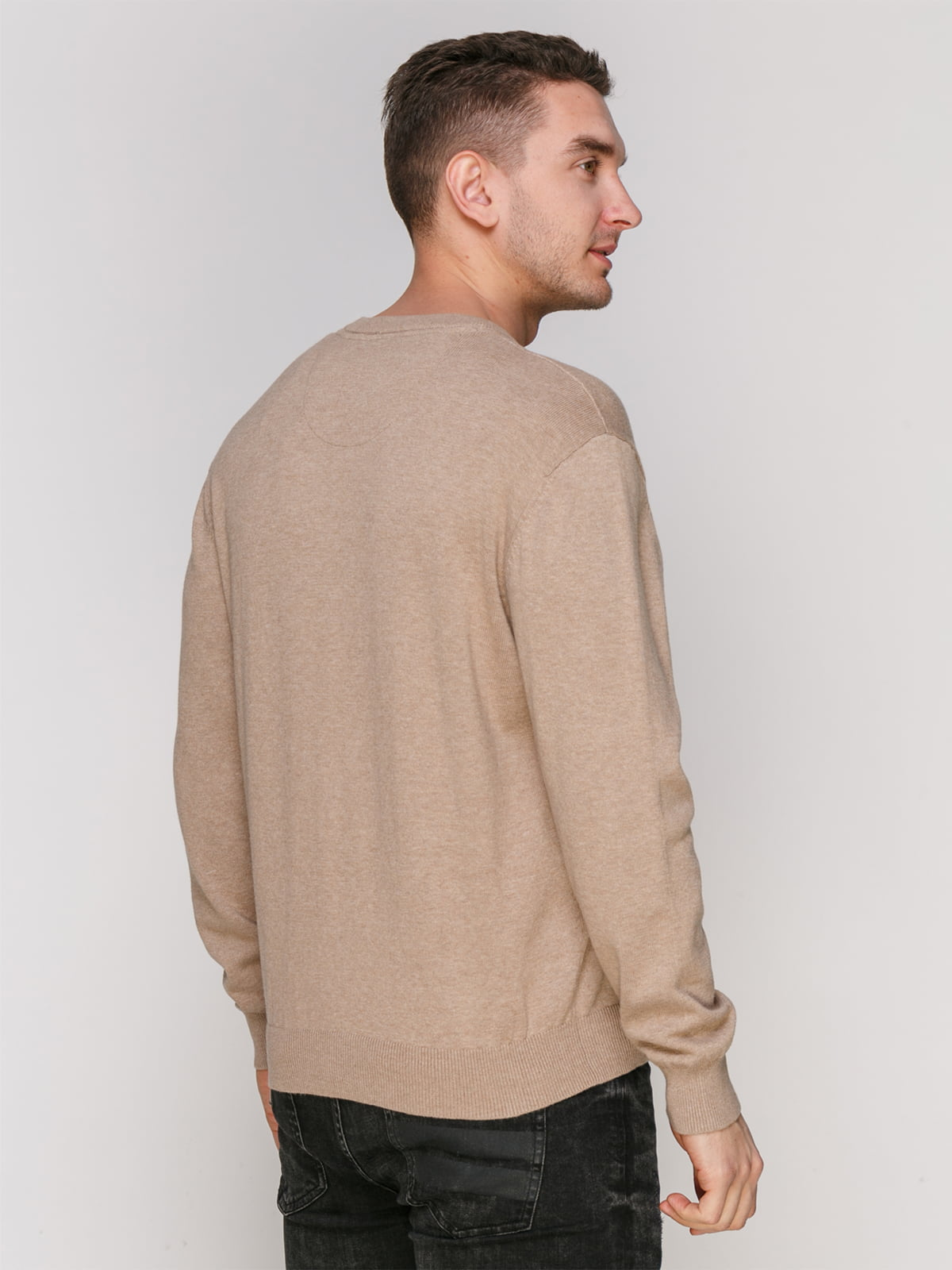 Пуловер серо-бежевого цвета   4855017   фото 2