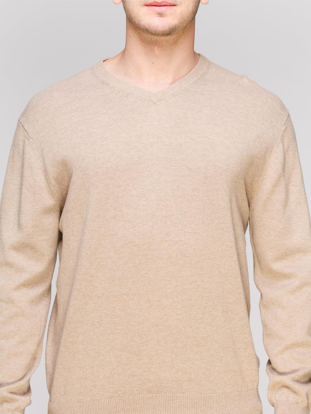Пуловер серо-бежевого цвета   4855017   фото 3