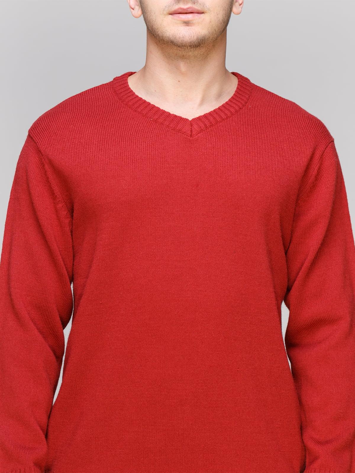 Пуловер червоний | 4855012 | фото 3