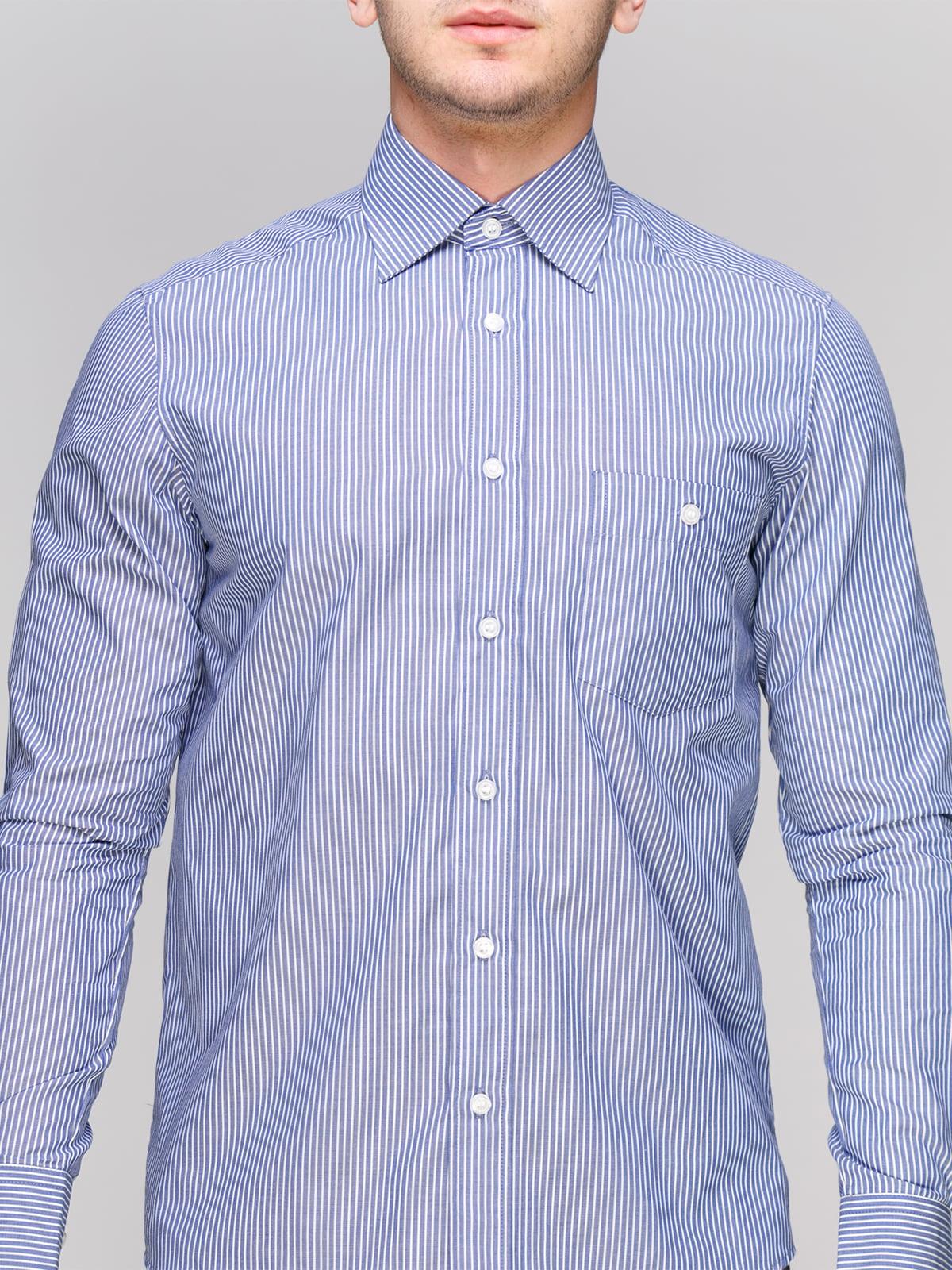 Сорочка синя в смужку | 4855387 | фото 3