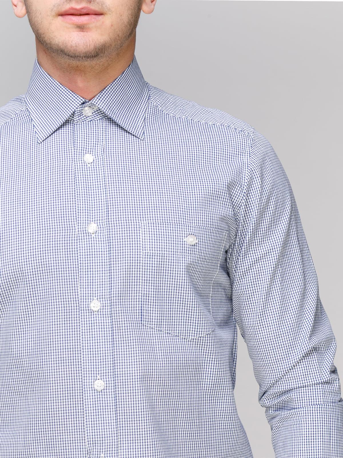 Рубашка синяя в клетку | 4855384 | фото 3