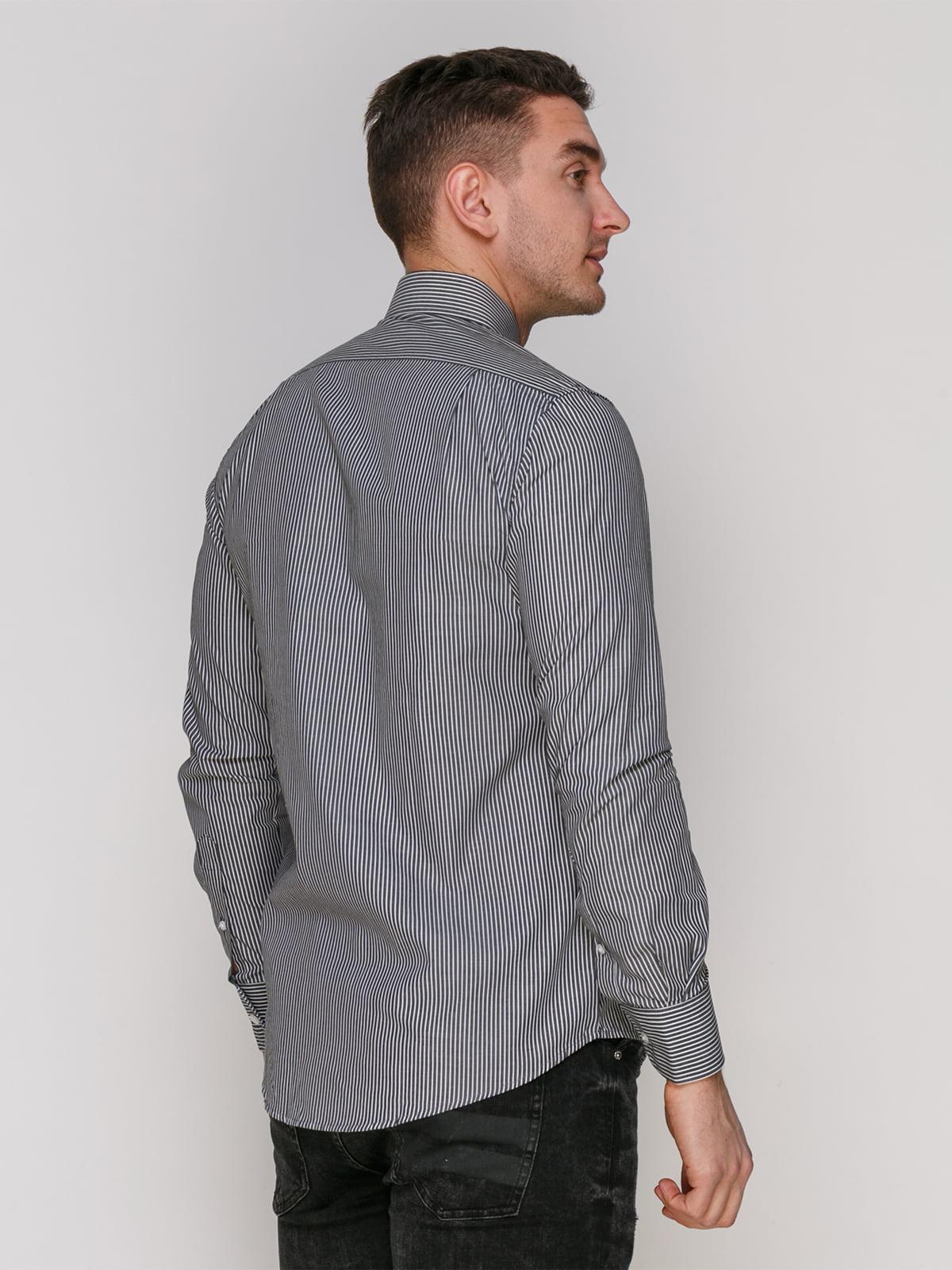 Рубашка черная в полоску | 4855386 | фото 2