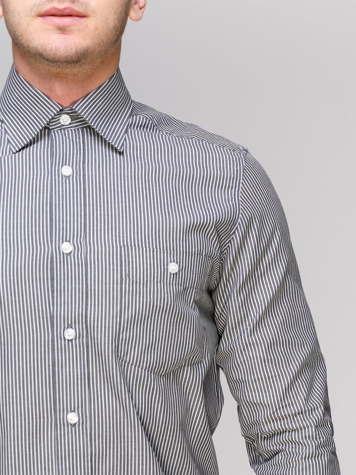 Рубашка черная в полоску | 4855386 | фото 3
