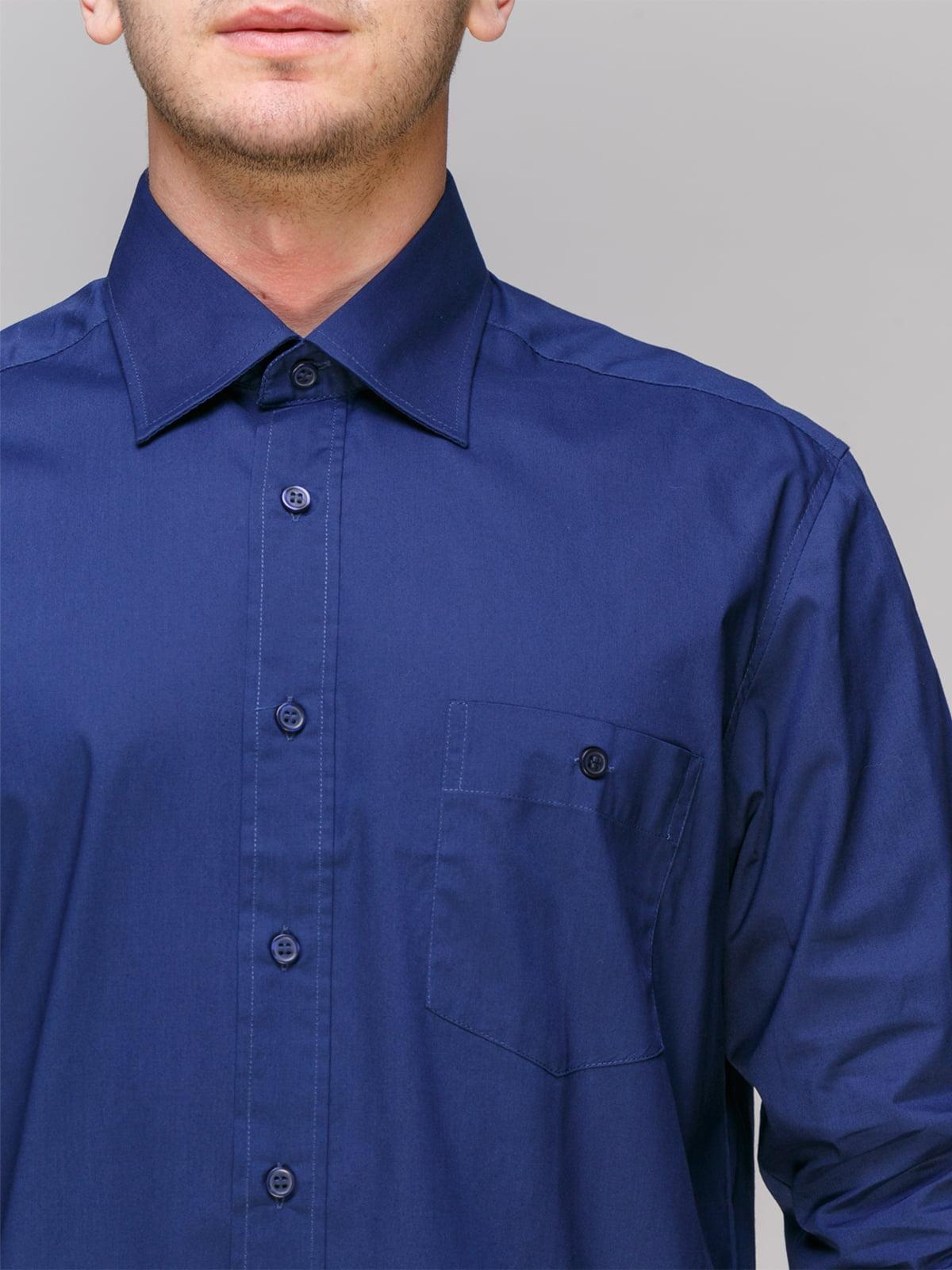 Рубашка темно-синяя | 4854847 | фото 3