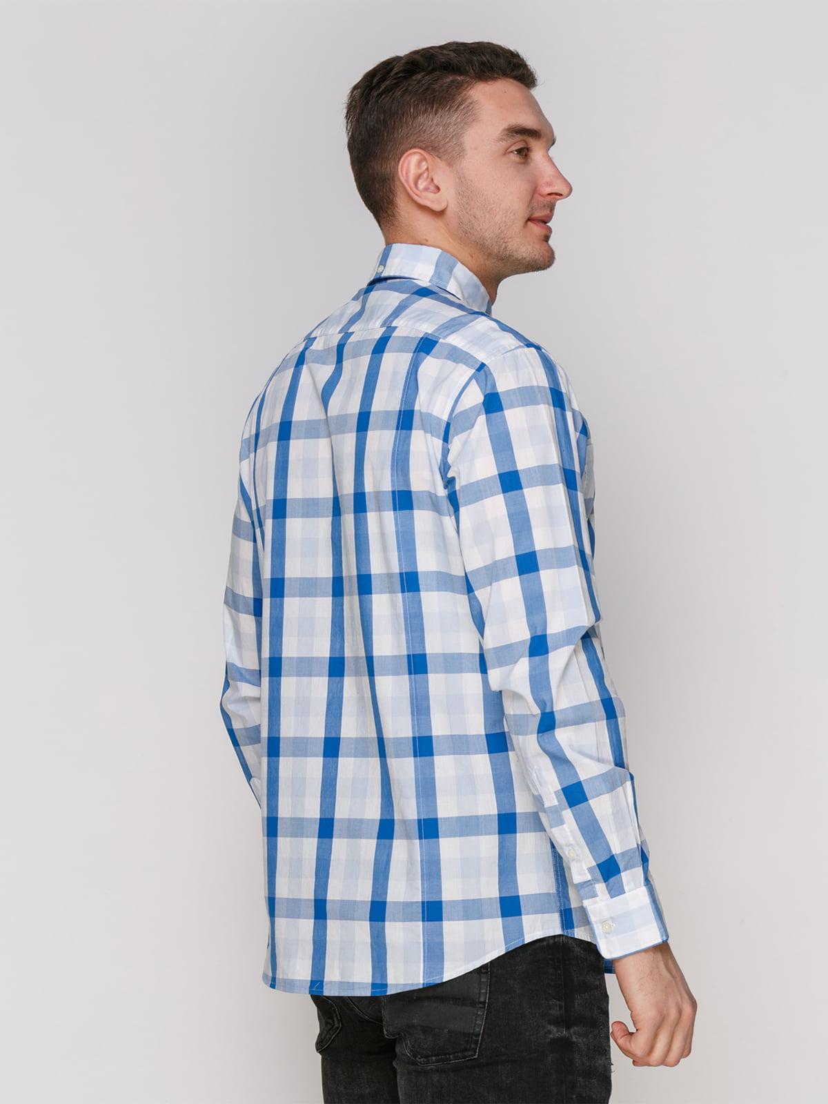 Рубашка синяя в клетку | 4854843 | фото 2