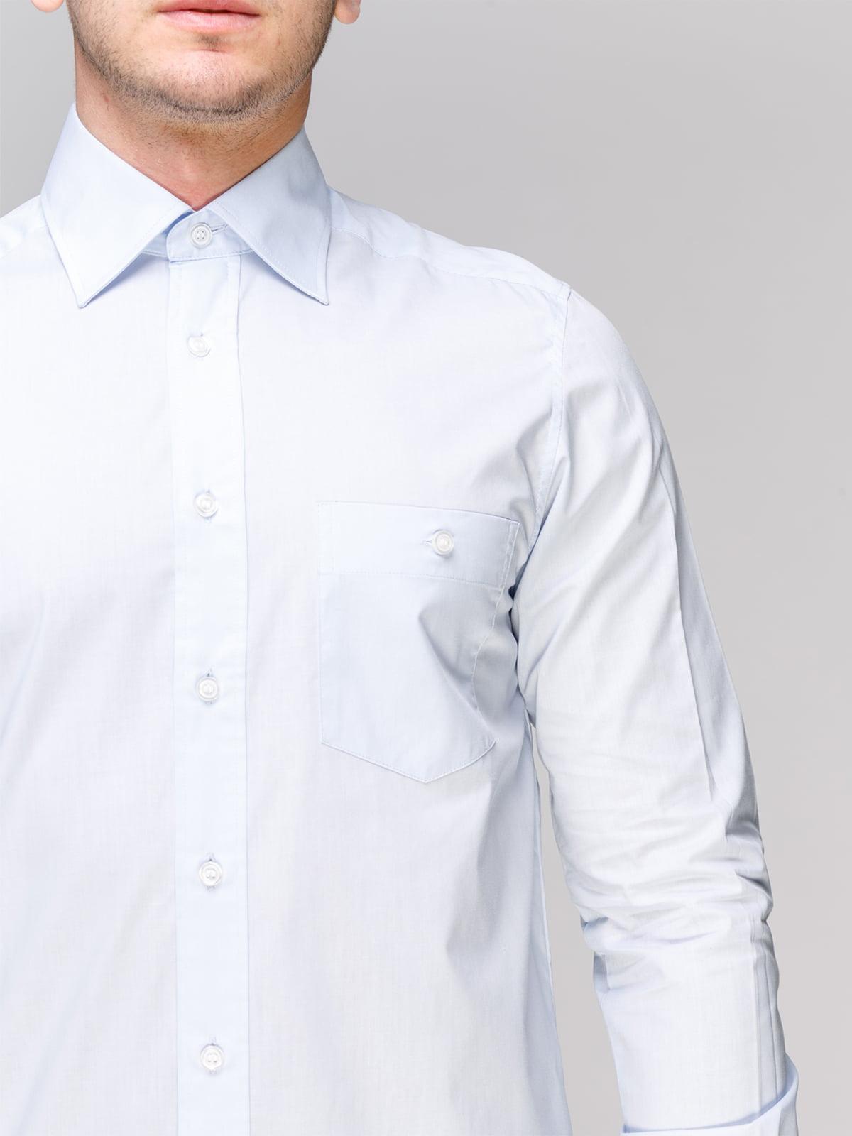 Рубашка голубая | 4854848 | фото 3