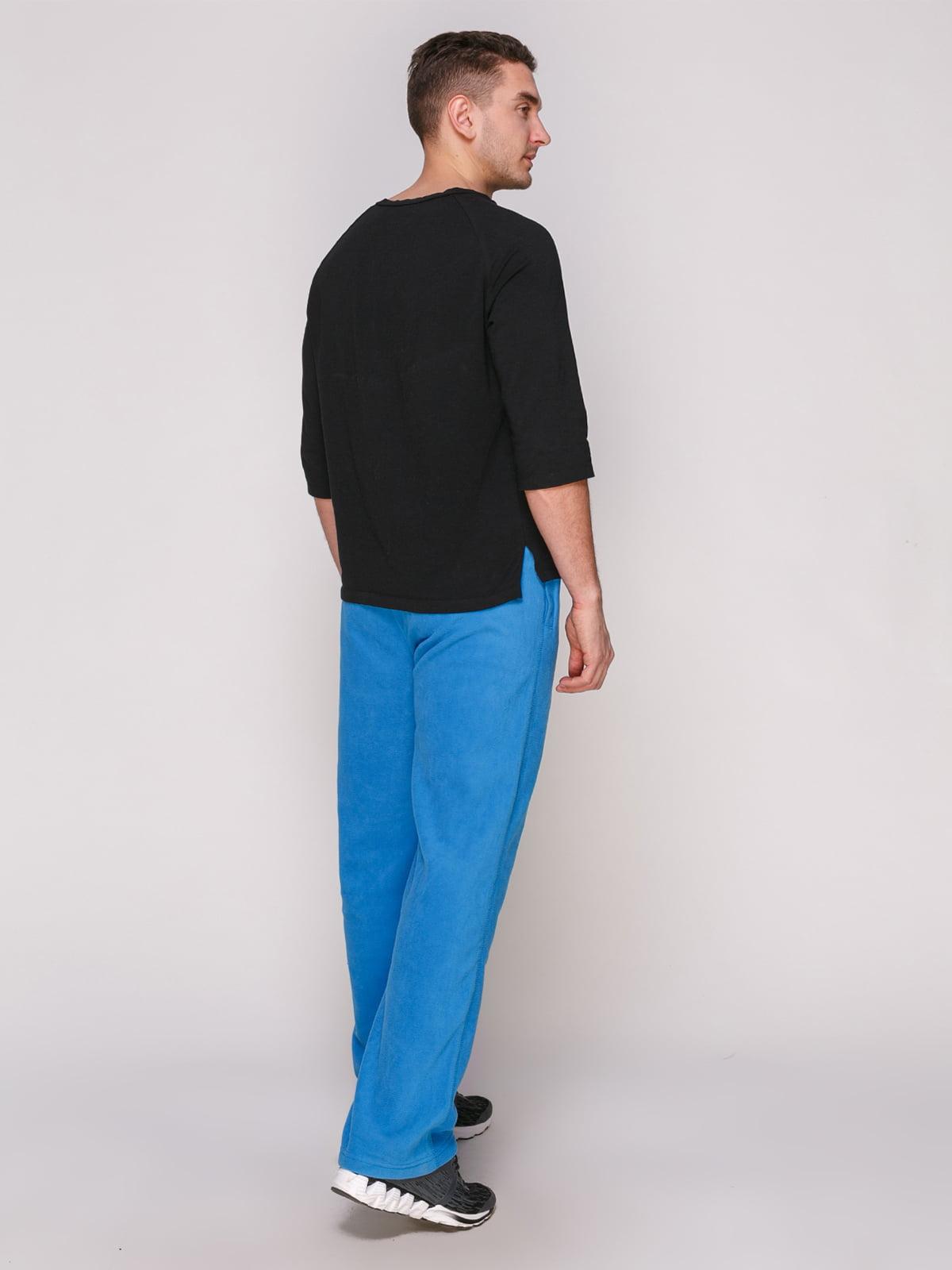 Штани блакитні флісові | 4854823 | фото 3