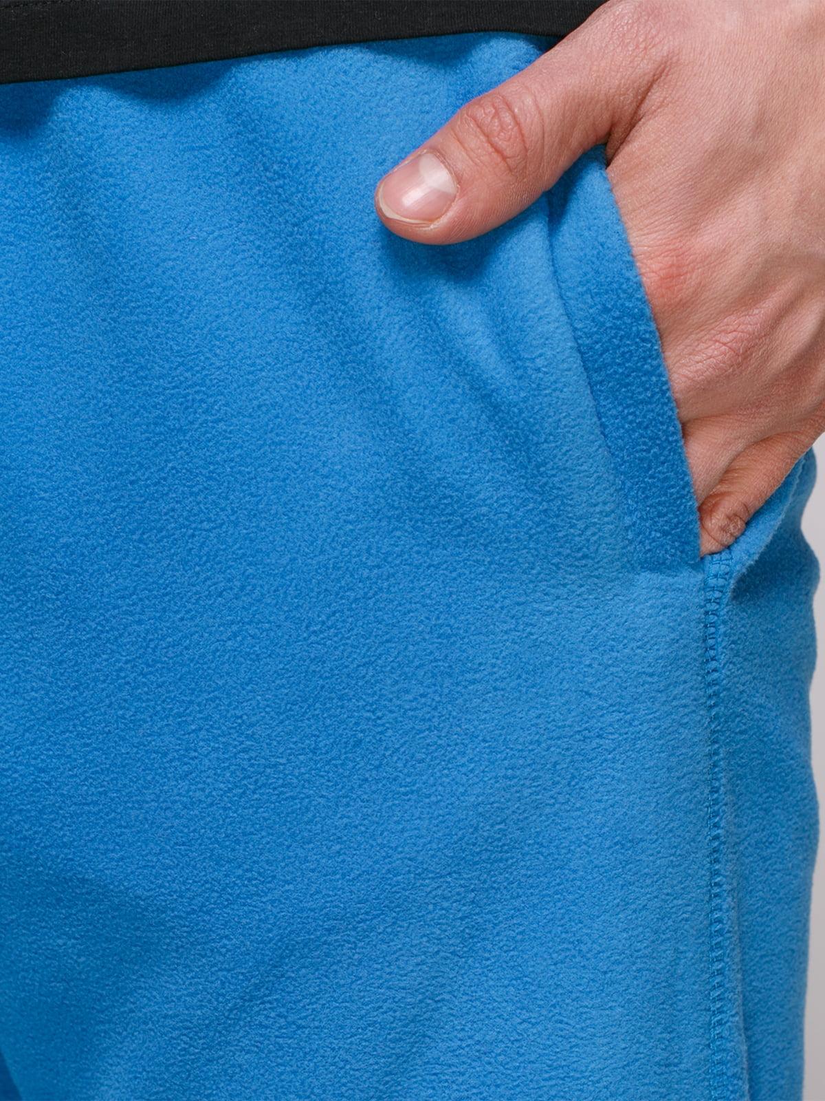 Штани блакитні флісові | 4854823 | фото 4