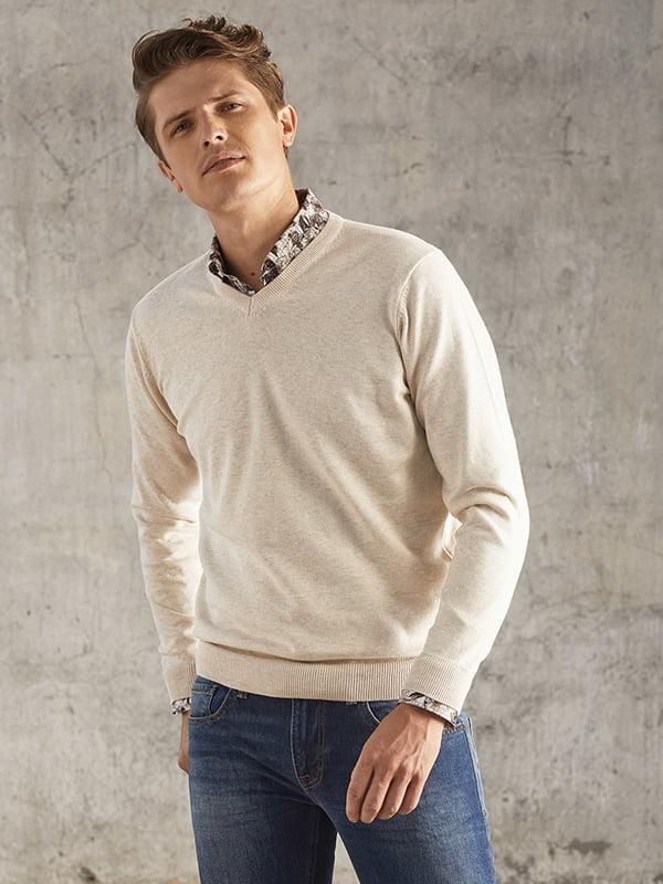 Пуловер бежевий | 4827277