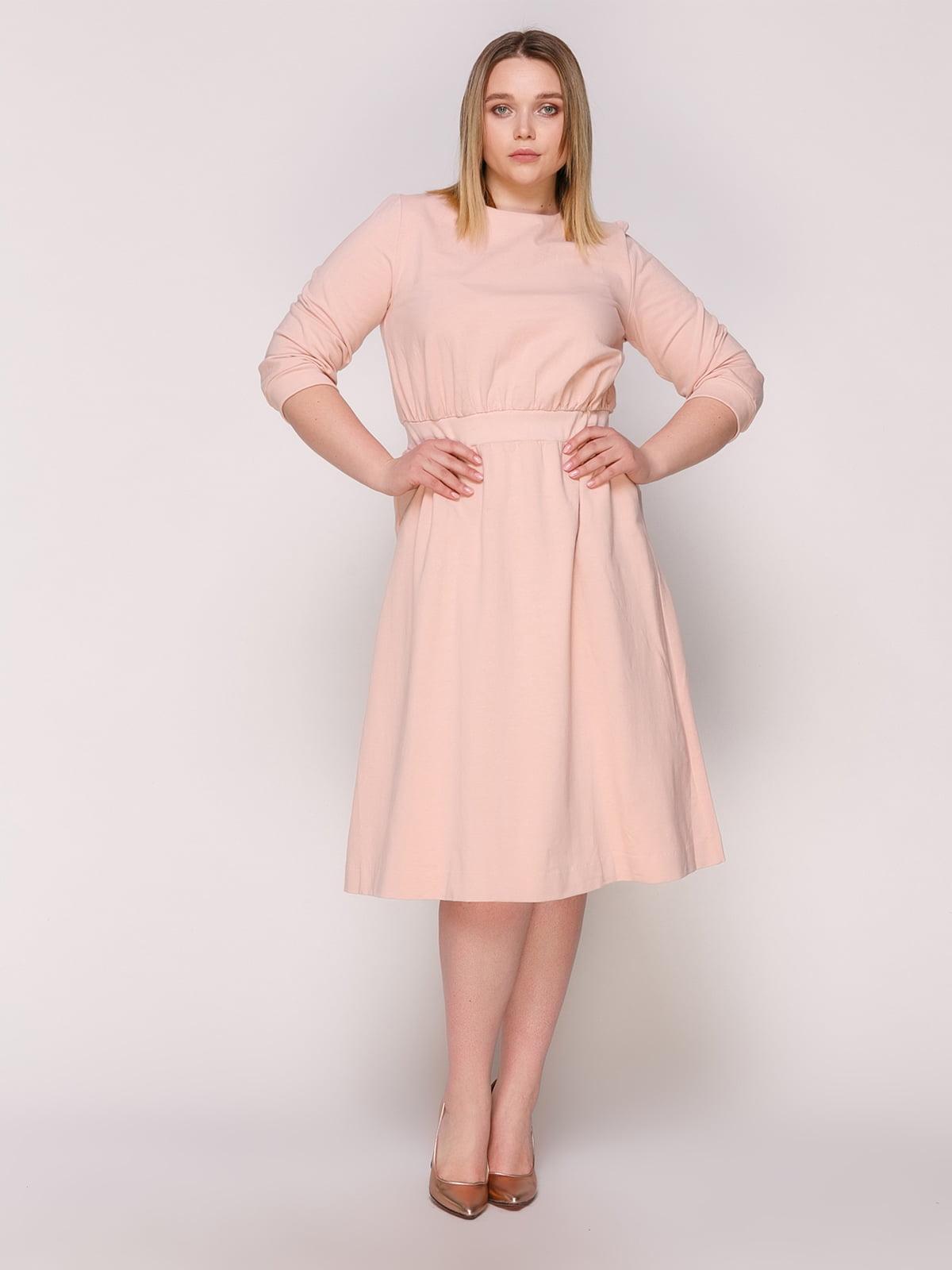 Сукня бежево-рожева | 4920318