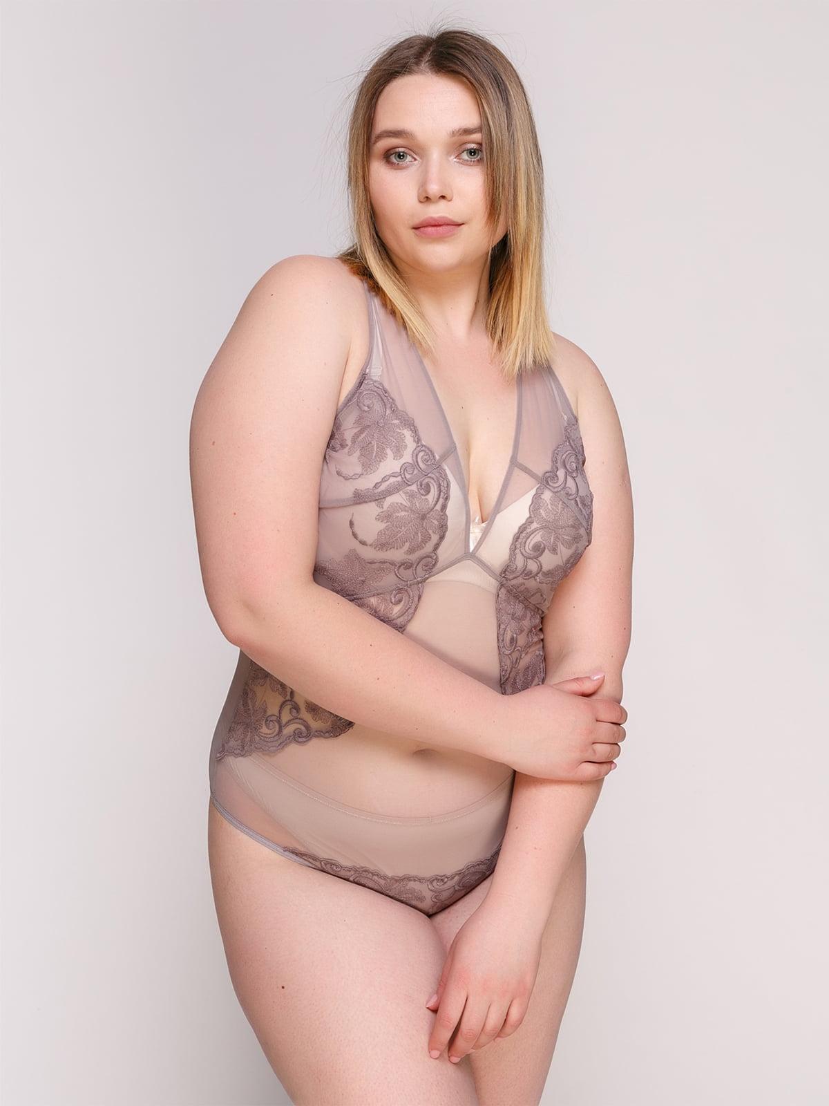 Блуза-боди серая   4498964