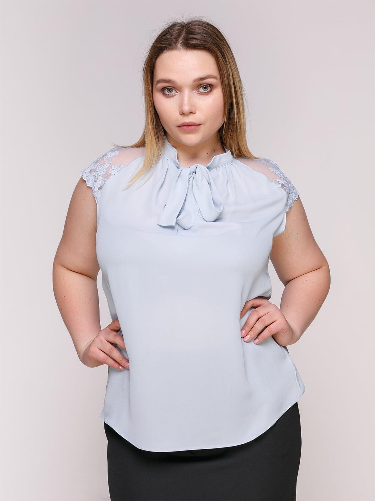 Блуза-боди голубая | 4950630